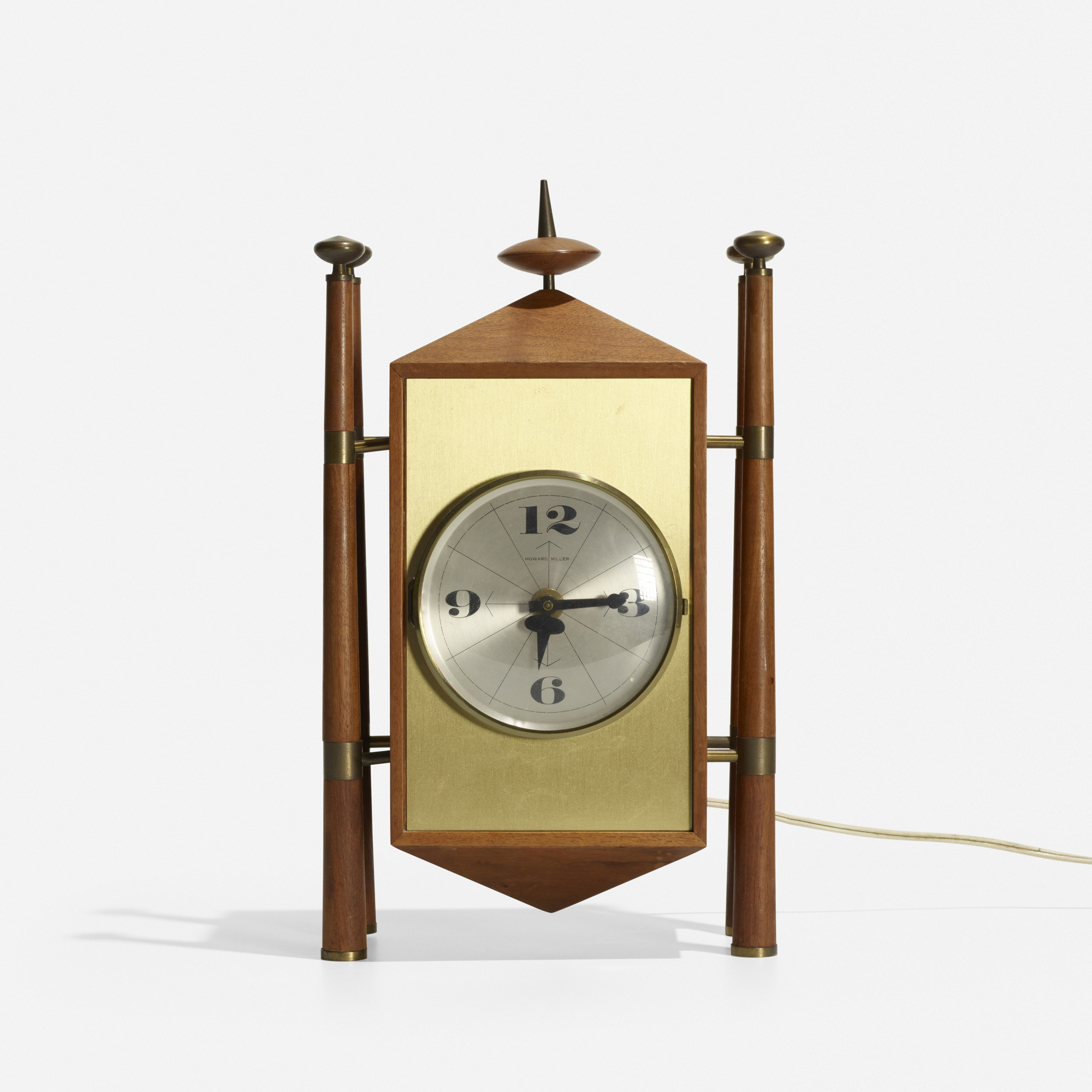 124: George Nelson & Associates / Baroque table clock, model 2255 (2 of 3)