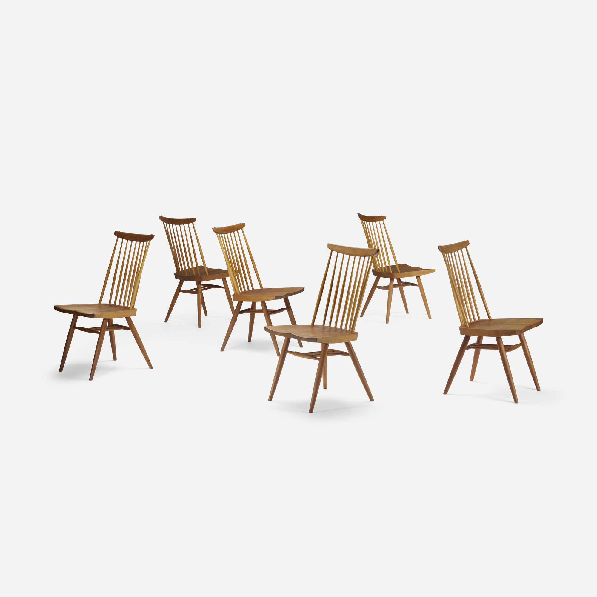 124: George Nakashima / New chairs, set of six (2 of 3)