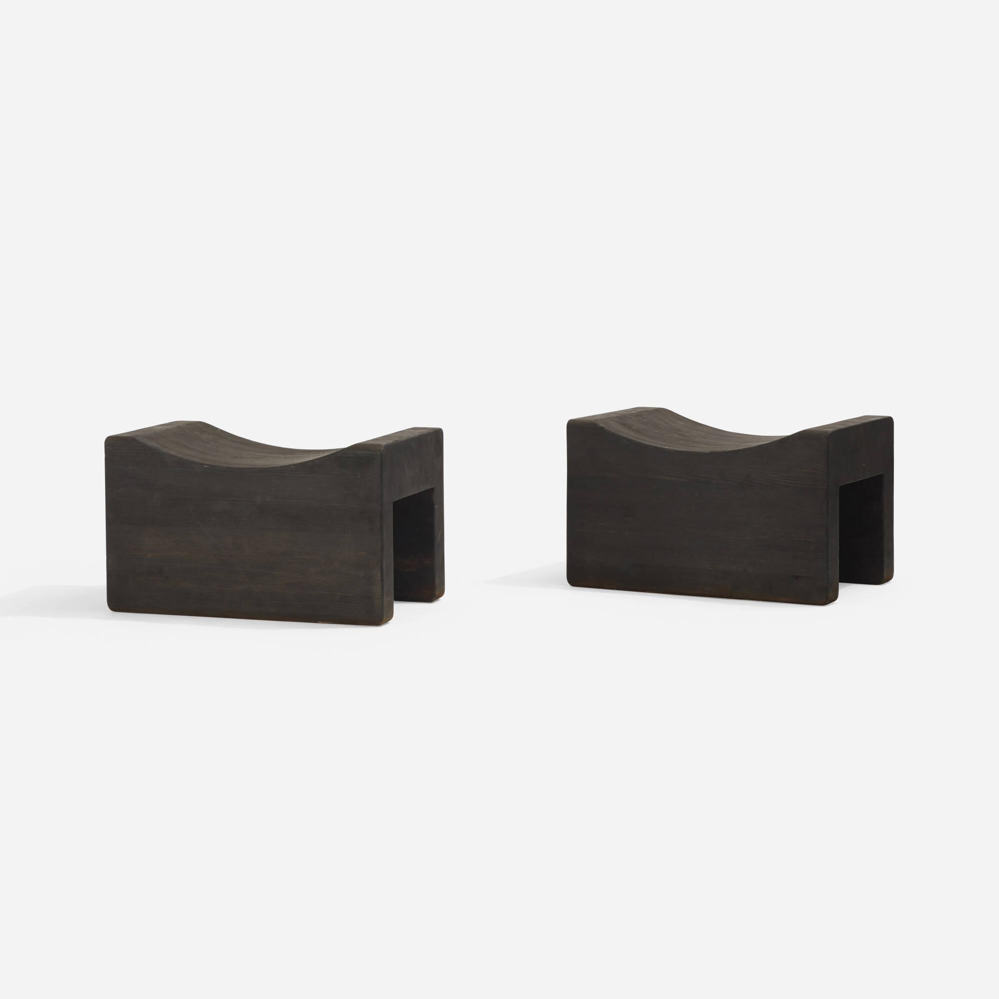124: Axel Einar Hjorth / Utö stools, pair (2 of 3)
