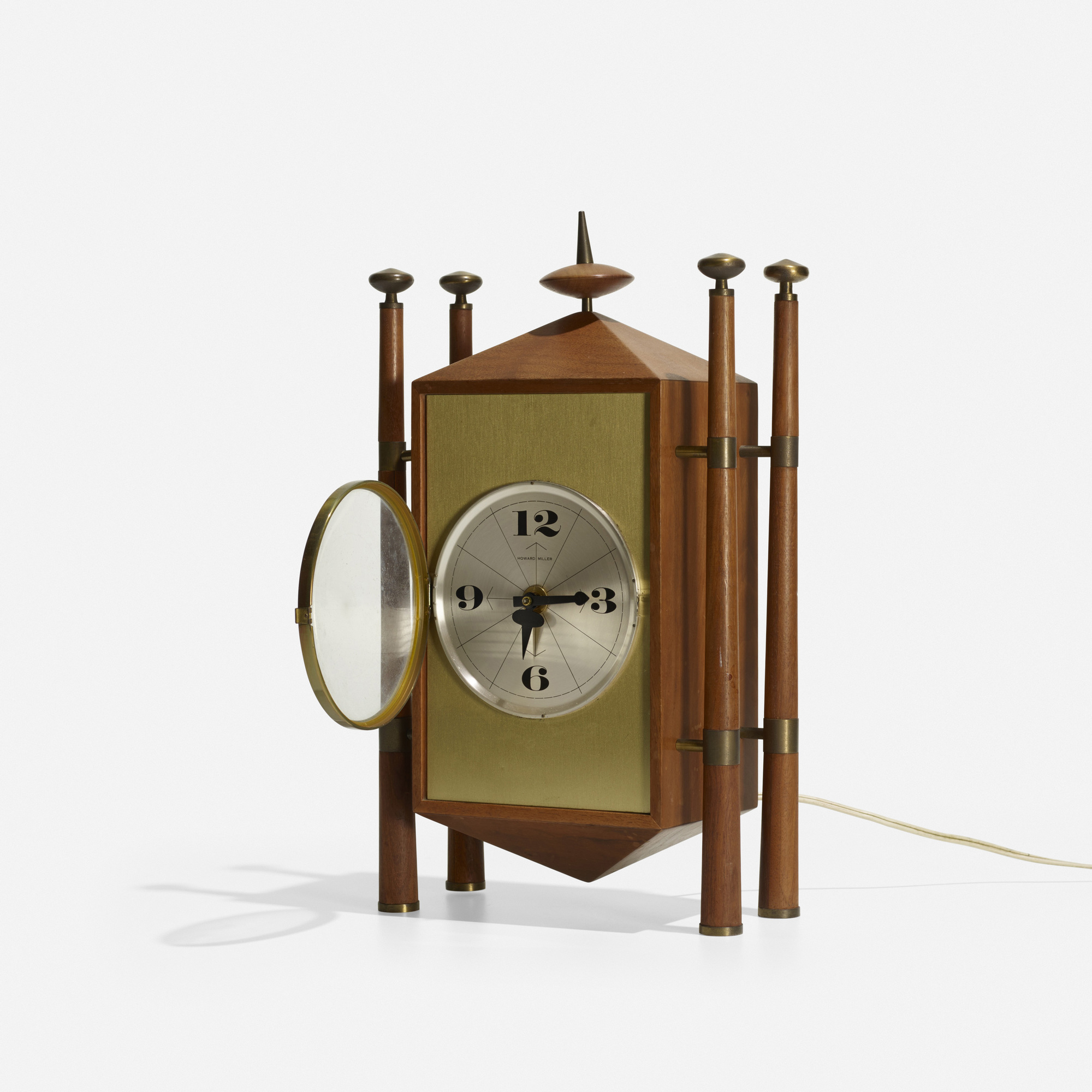 124: George Nelson & Associates / Baroque table clock, model 2255 (3 of 3)