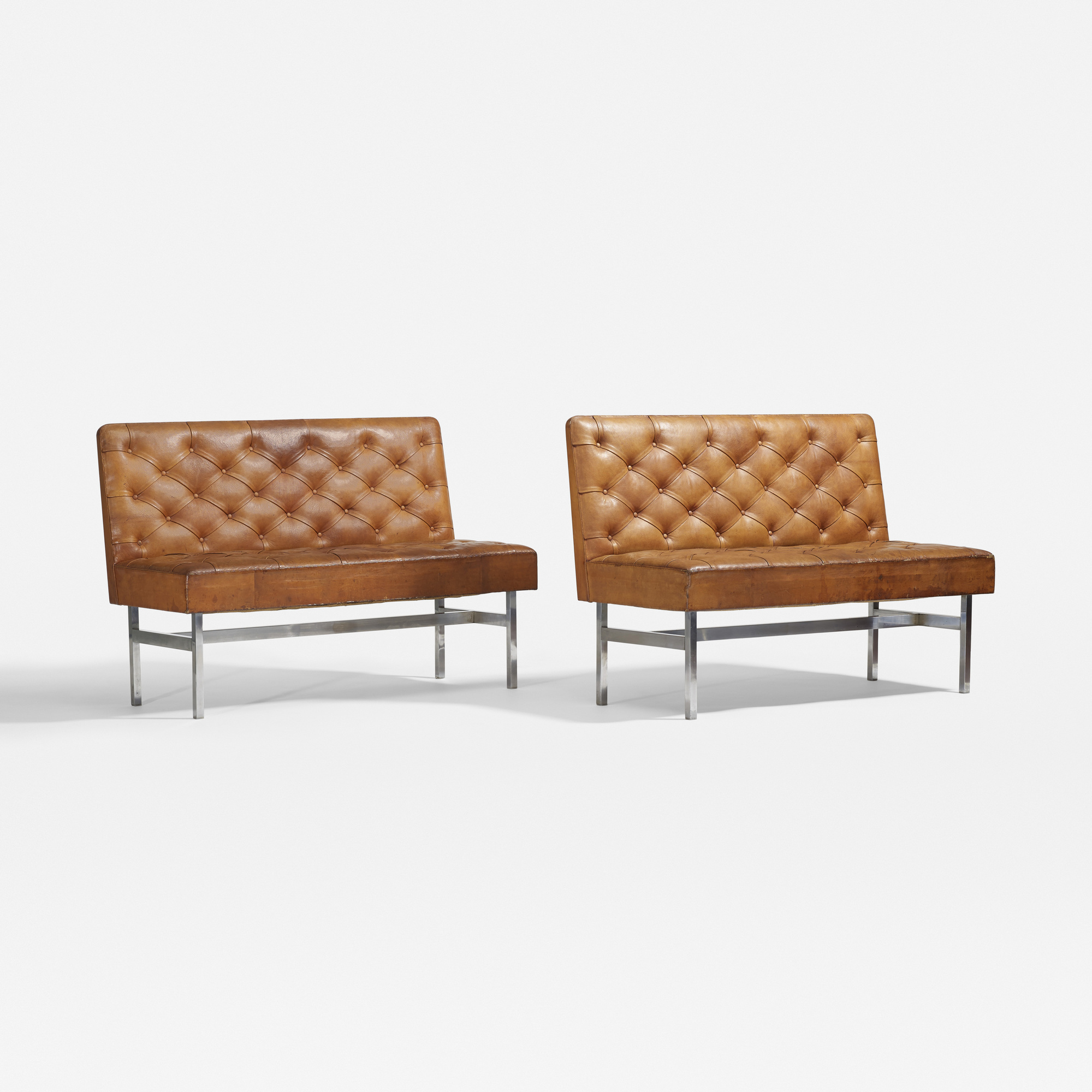 125: Kaare Klint / custom benches, pair (1 of 3)