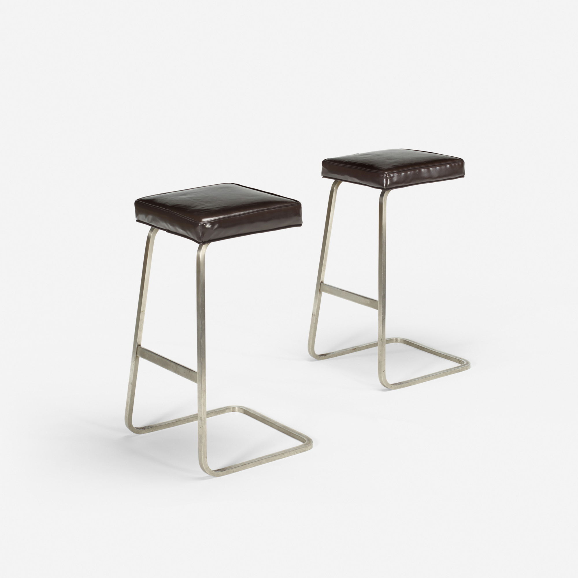 125: Ludwig Mies van der Rohe with Philip Johnson / Four Seasons bar stools from the Grill Room, pair (1 of 1)