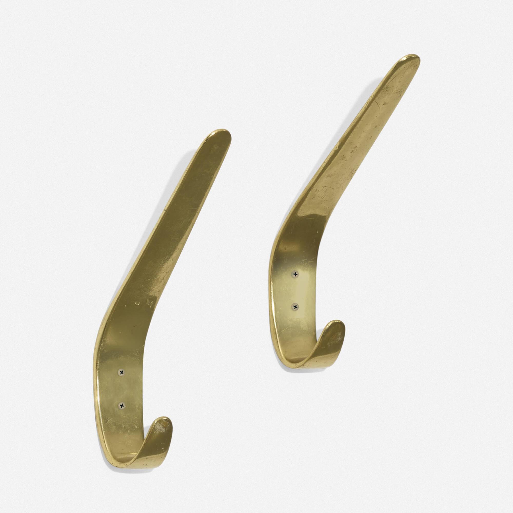 125: Carl Auböck II / wall hooks, pair (1 of 2)