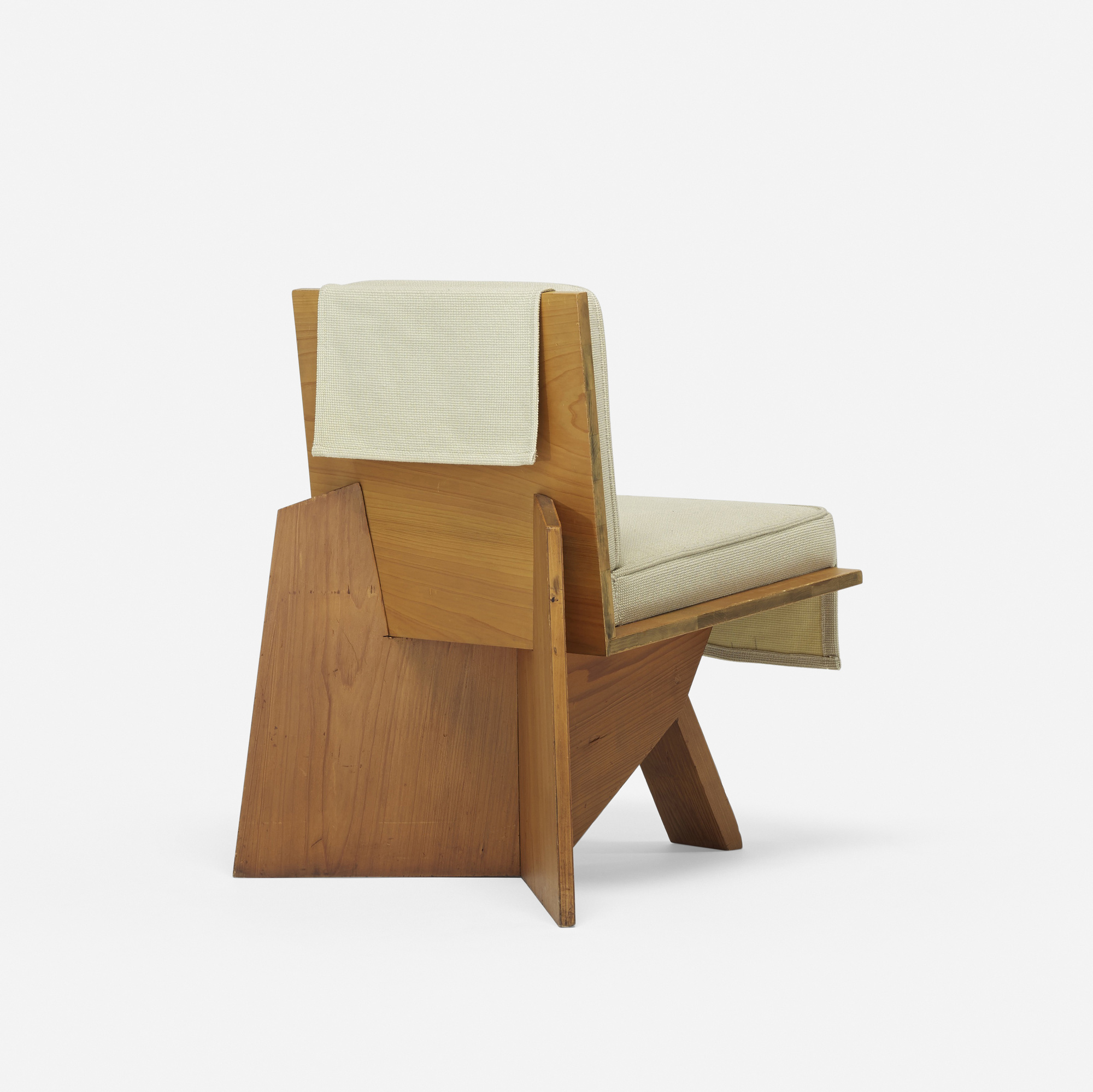 ... 125: Frank Lloyd Wright / Lounge Chair From The Clarence Sondern House,  Kansas City
