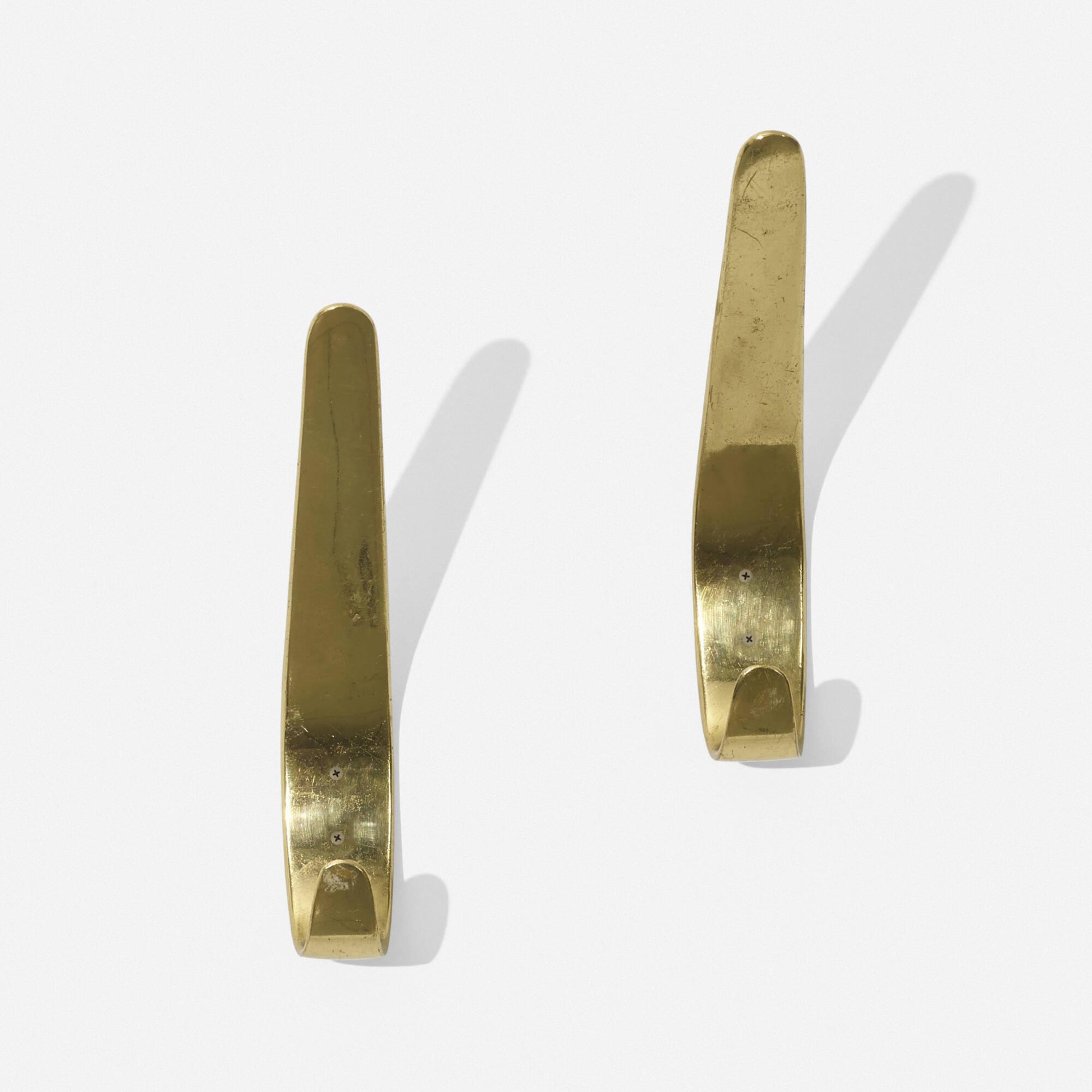 125: Carl Auböck II / wall hooks, pair (2 of 2)