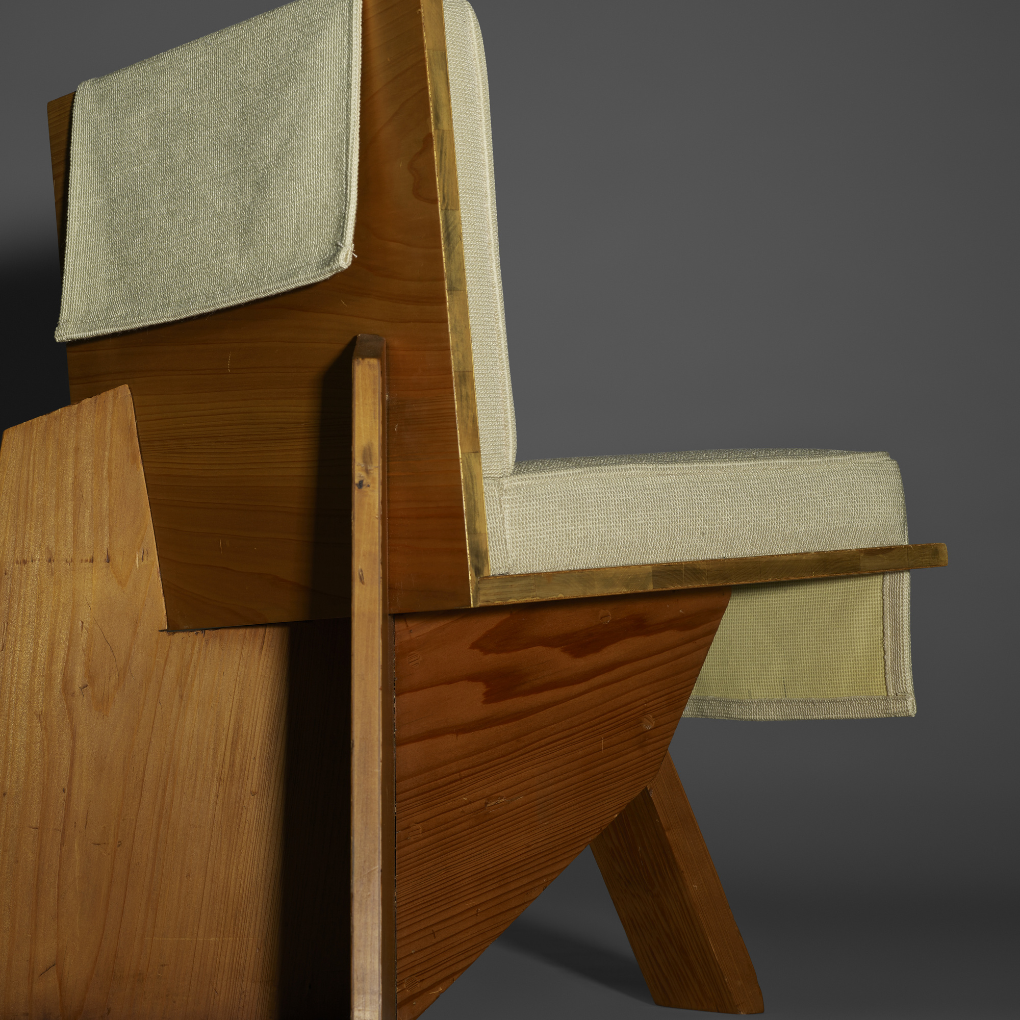 Magnificent 125 Frank Lloyd Wright Lounge Chair From The Clarence Theyellowbook Wood Chair Design Ideas Theyellowbookinfo