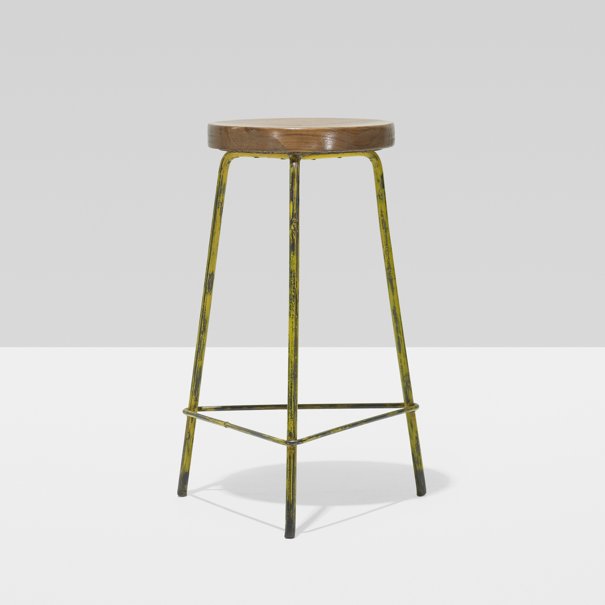 126: Pierre Jeanneret / stool from the College of Architecture, Chandigarh (1 of 2)