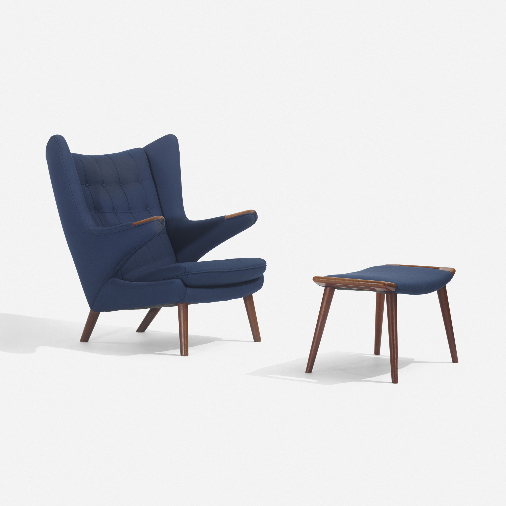 126: Hans J. Wegner / Papa Bear chair and ottoman (1 of 3)