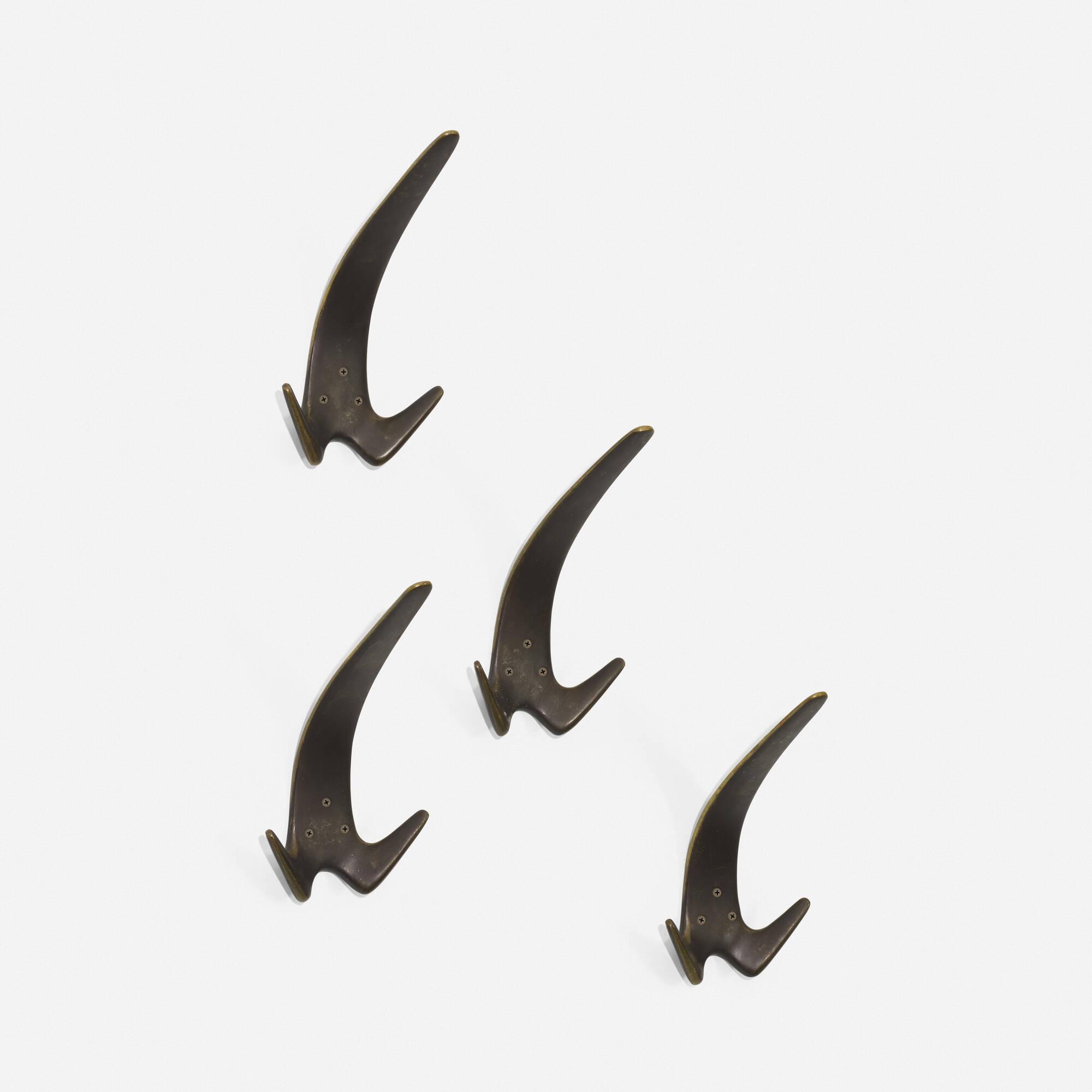 126: Carl Auböck II / wall hooks, set of four (1 of 2)