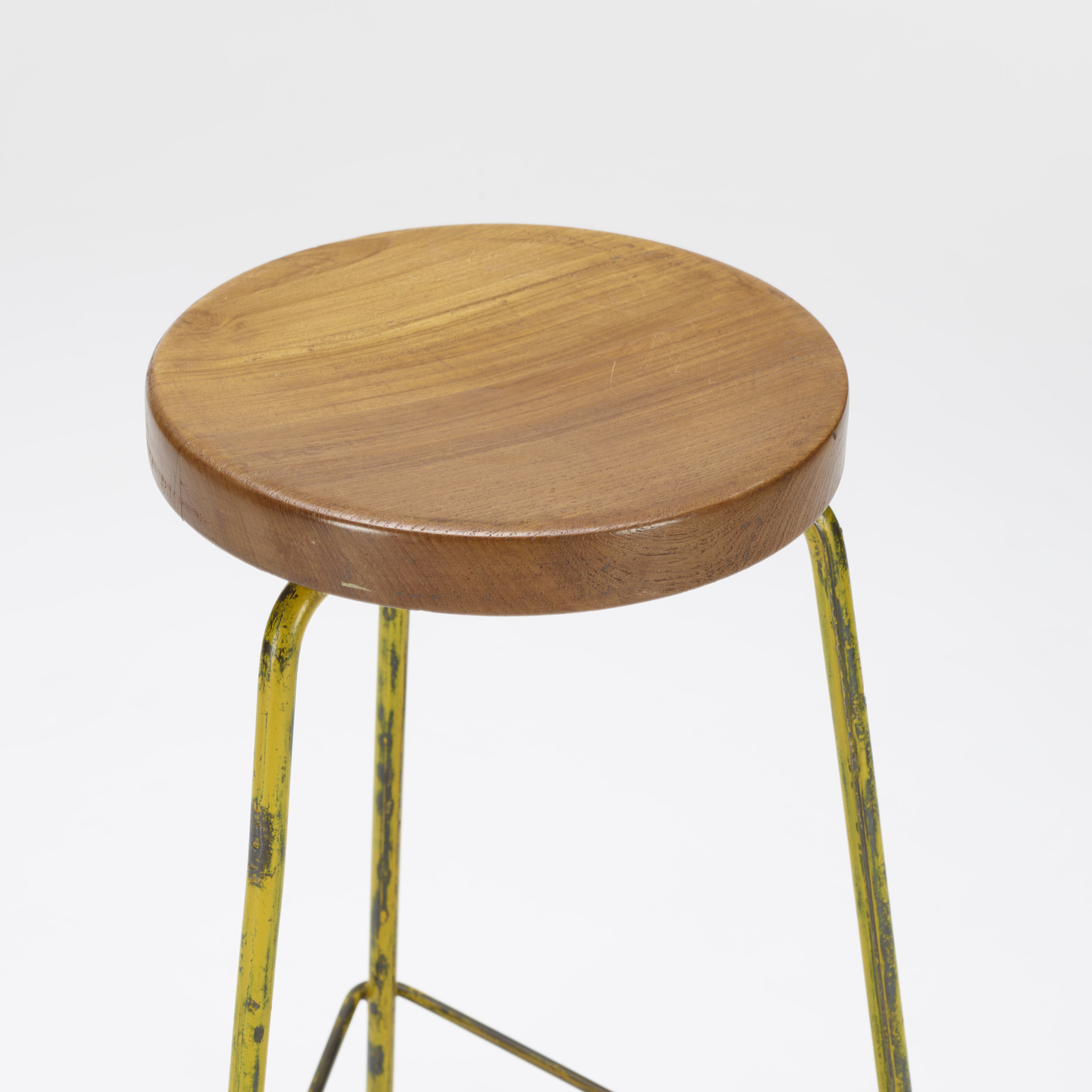 126: Pierre Jeanneret / stool from the College of Architecture, Chandigarh (2 of 2)