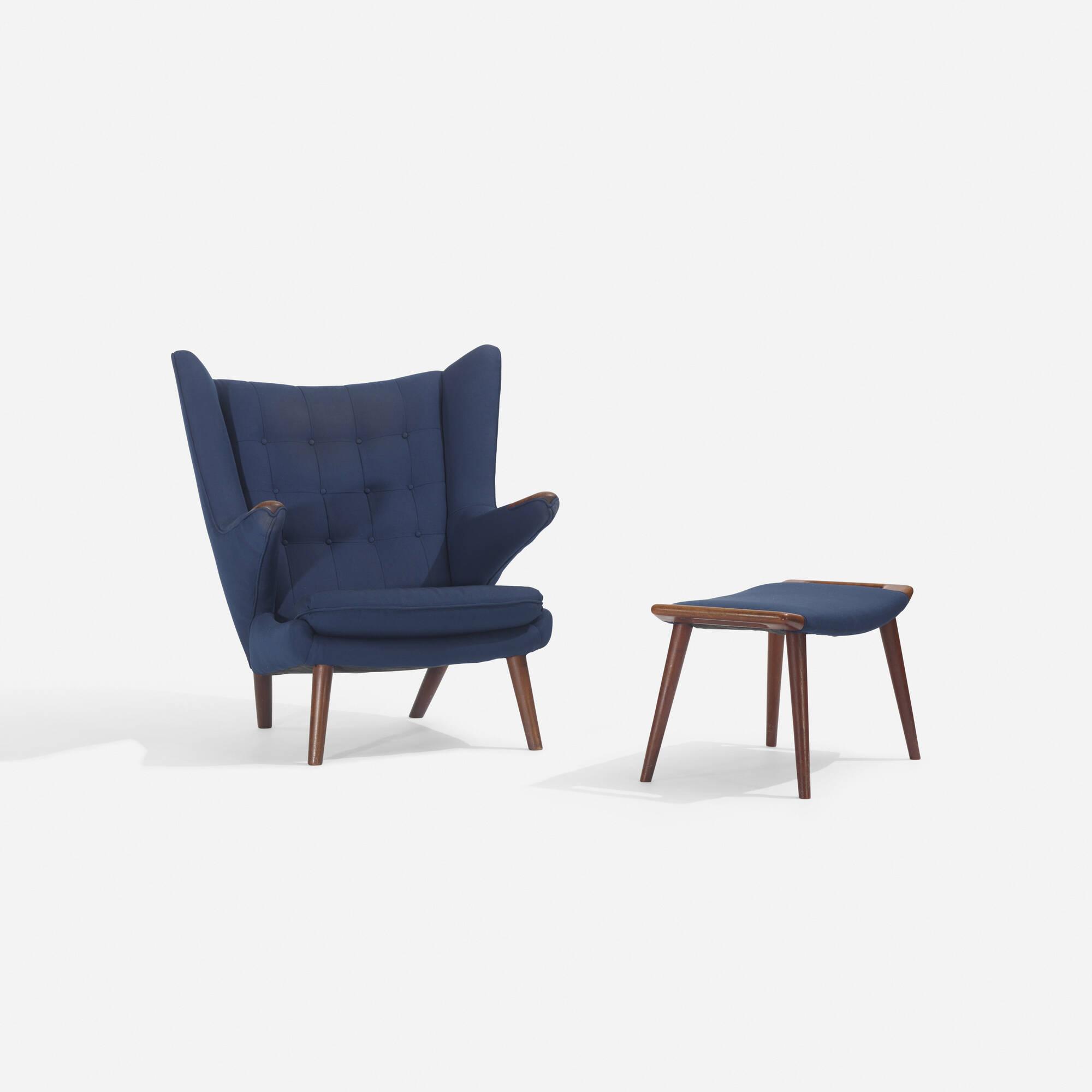 126: Hans J. Wegner / Papa Bear chair and ottoman (2 of 3)