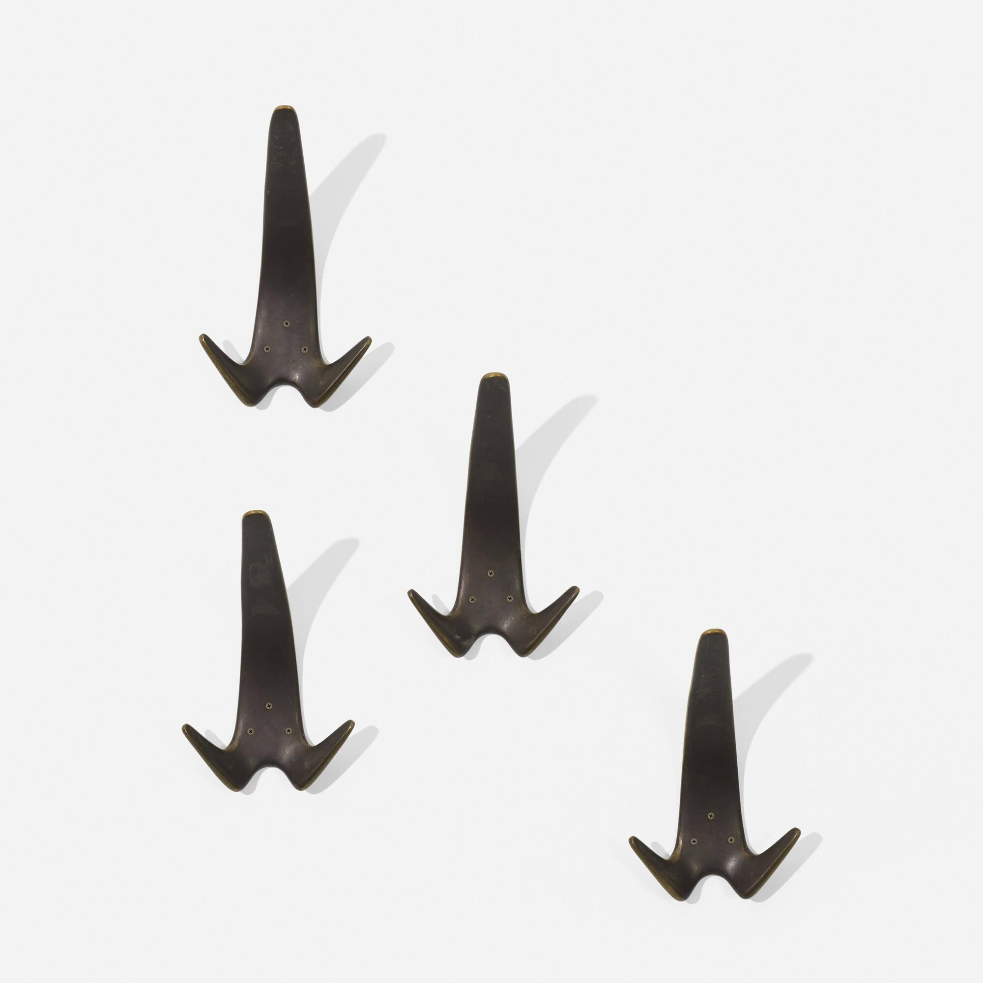 126: Carl Auböck II / wall hooks, set of four (2 of 2)