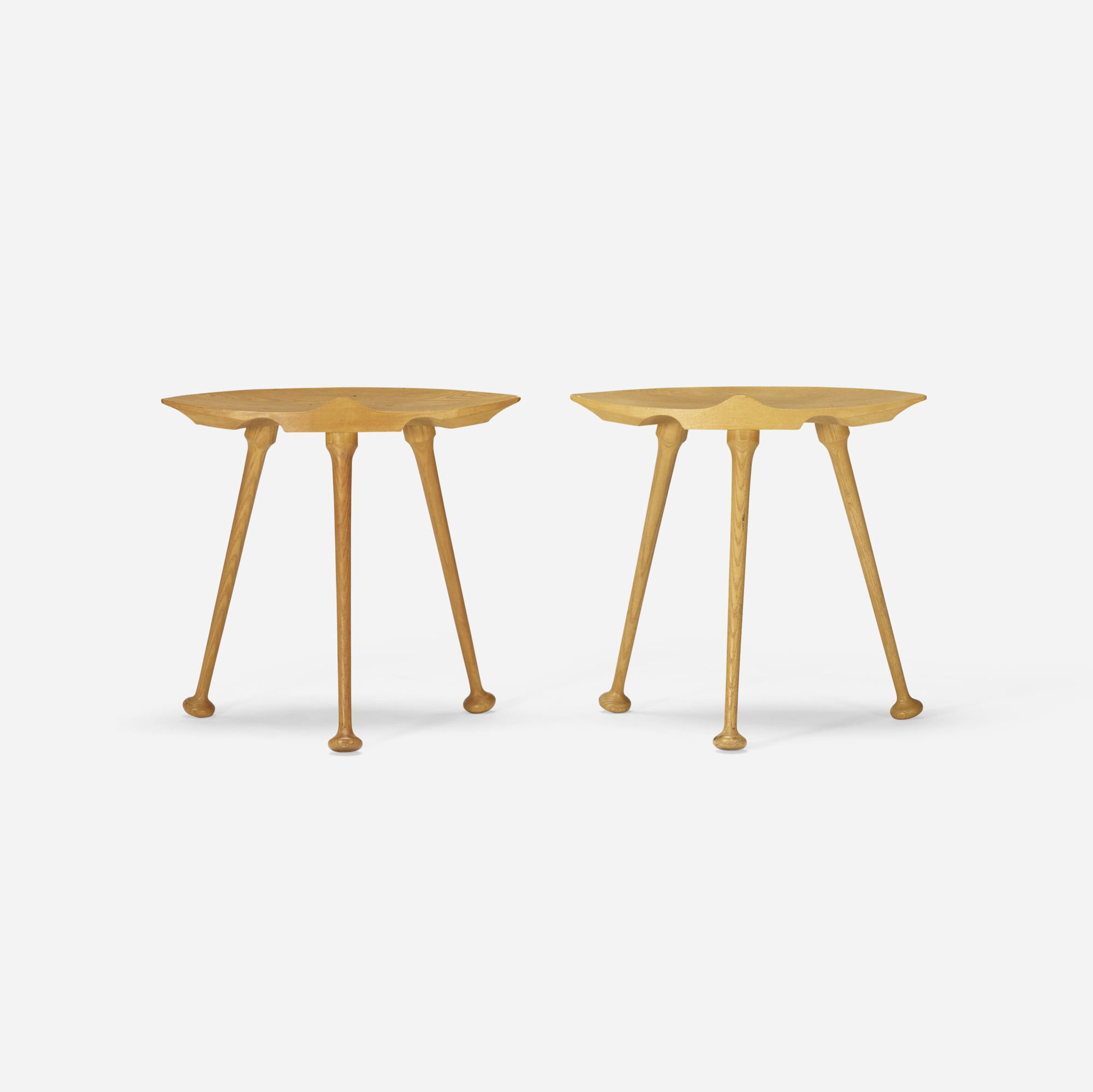 127: American Craft / stools, pair (1 of 2)