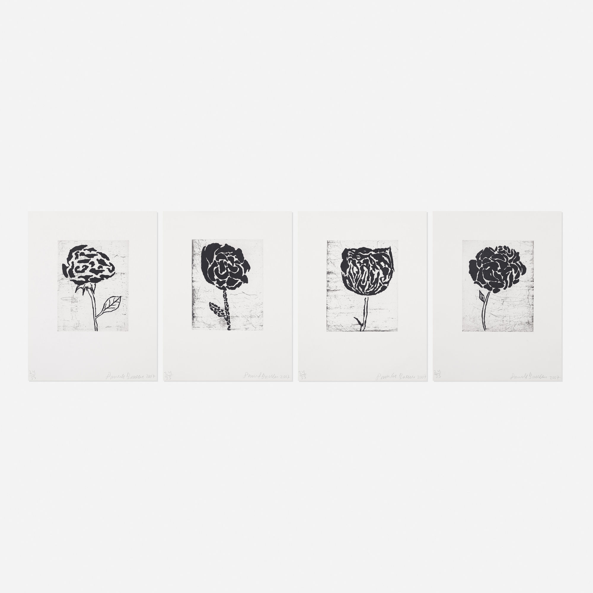 127: Donald Baechler / II, III, IV and V (from the Five Flowers series) (1 of 1)