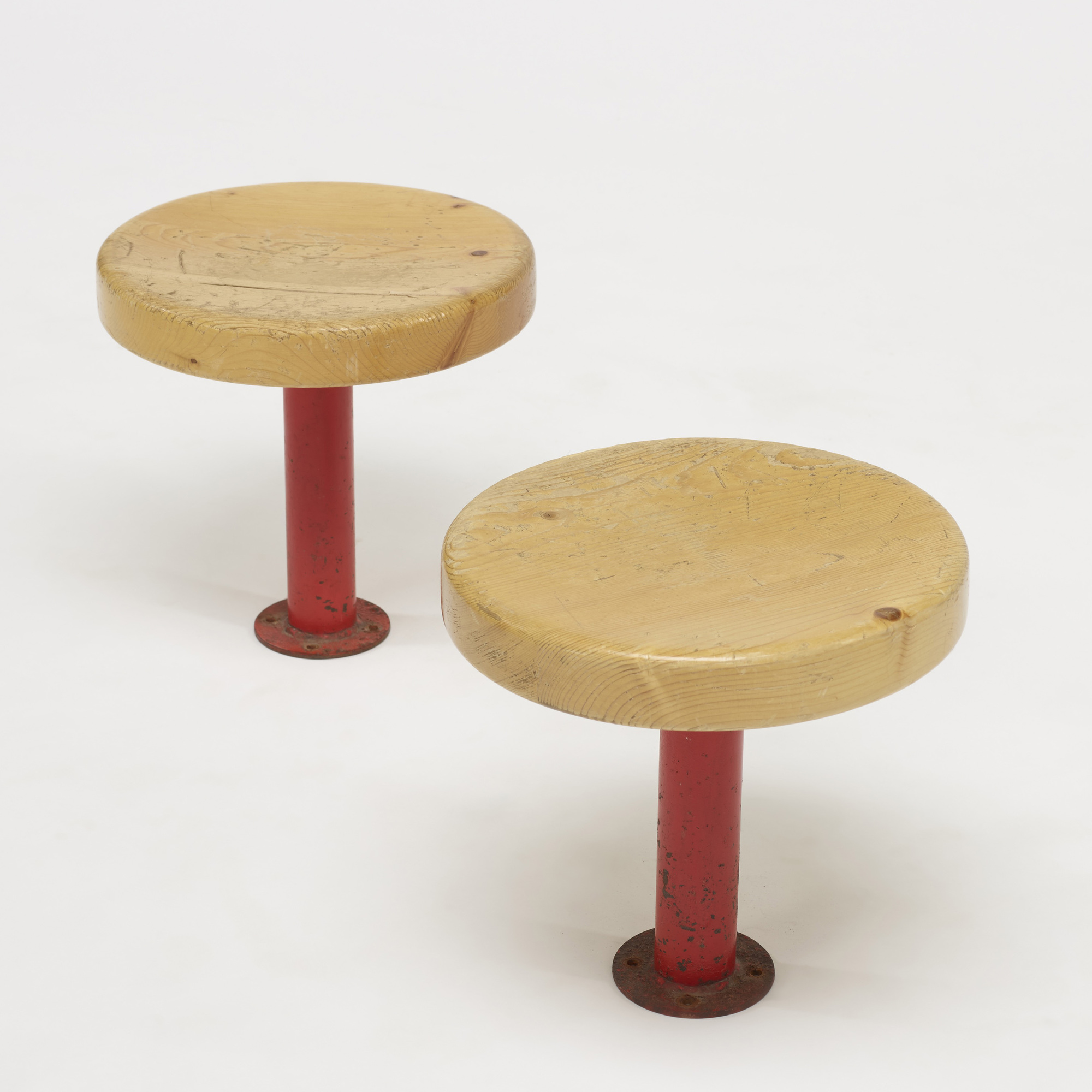 127: Charlotte Perriand / Kindergarten stools from Les Arcs, pair (2 of 2)