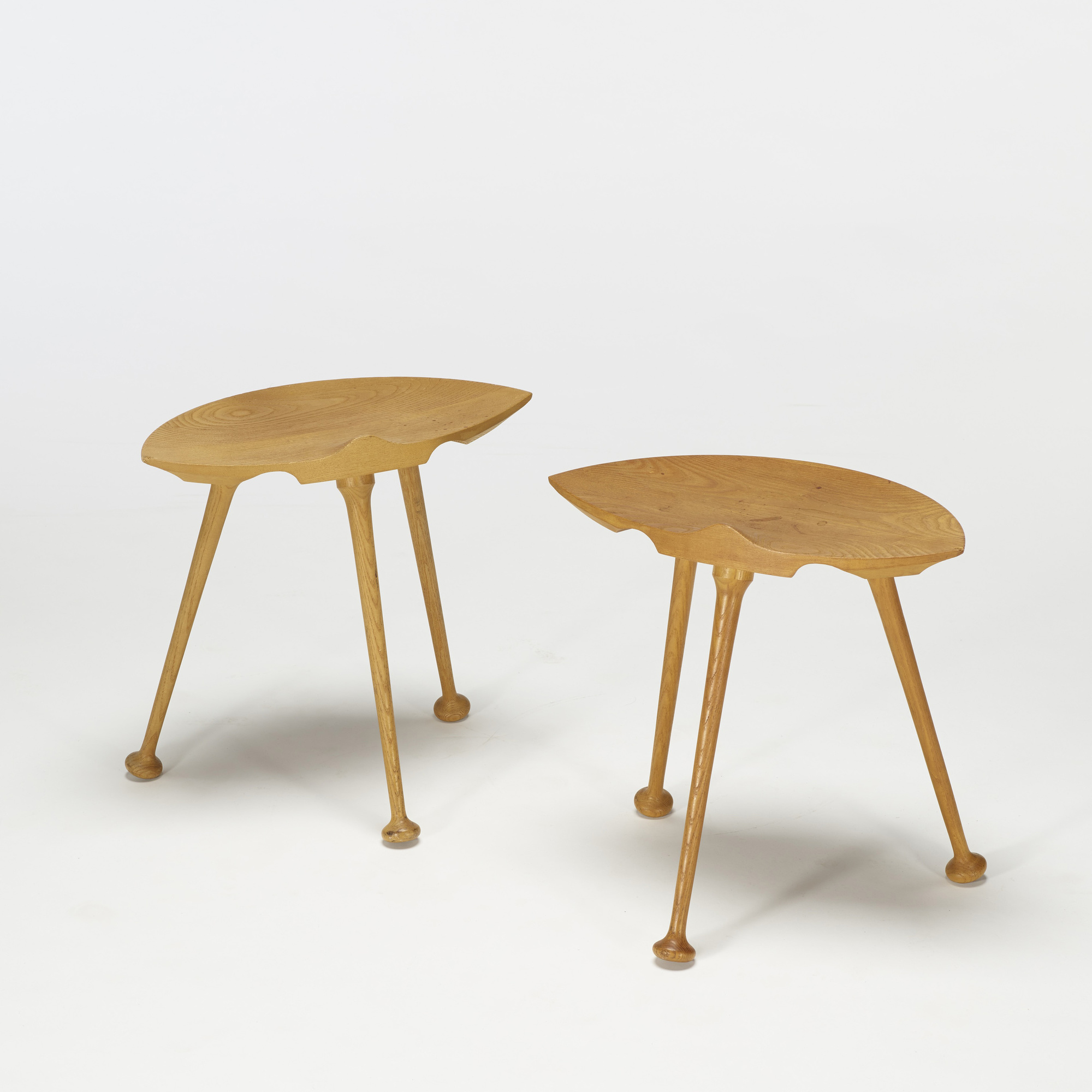 127: American Craft / stools, pair (2 of 2)