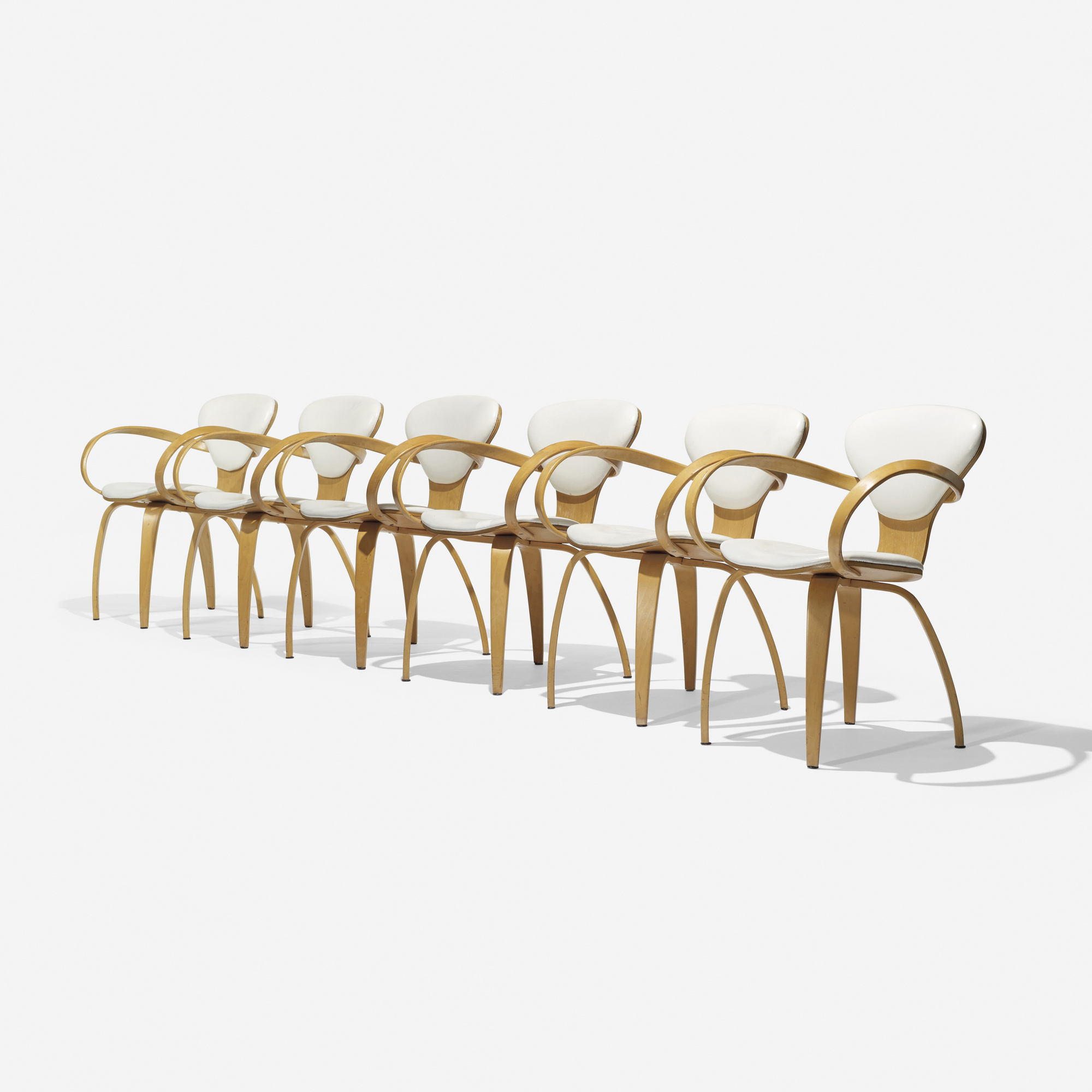 128: Lou App / Rockwell II armchairs, set of six (1 of 3)