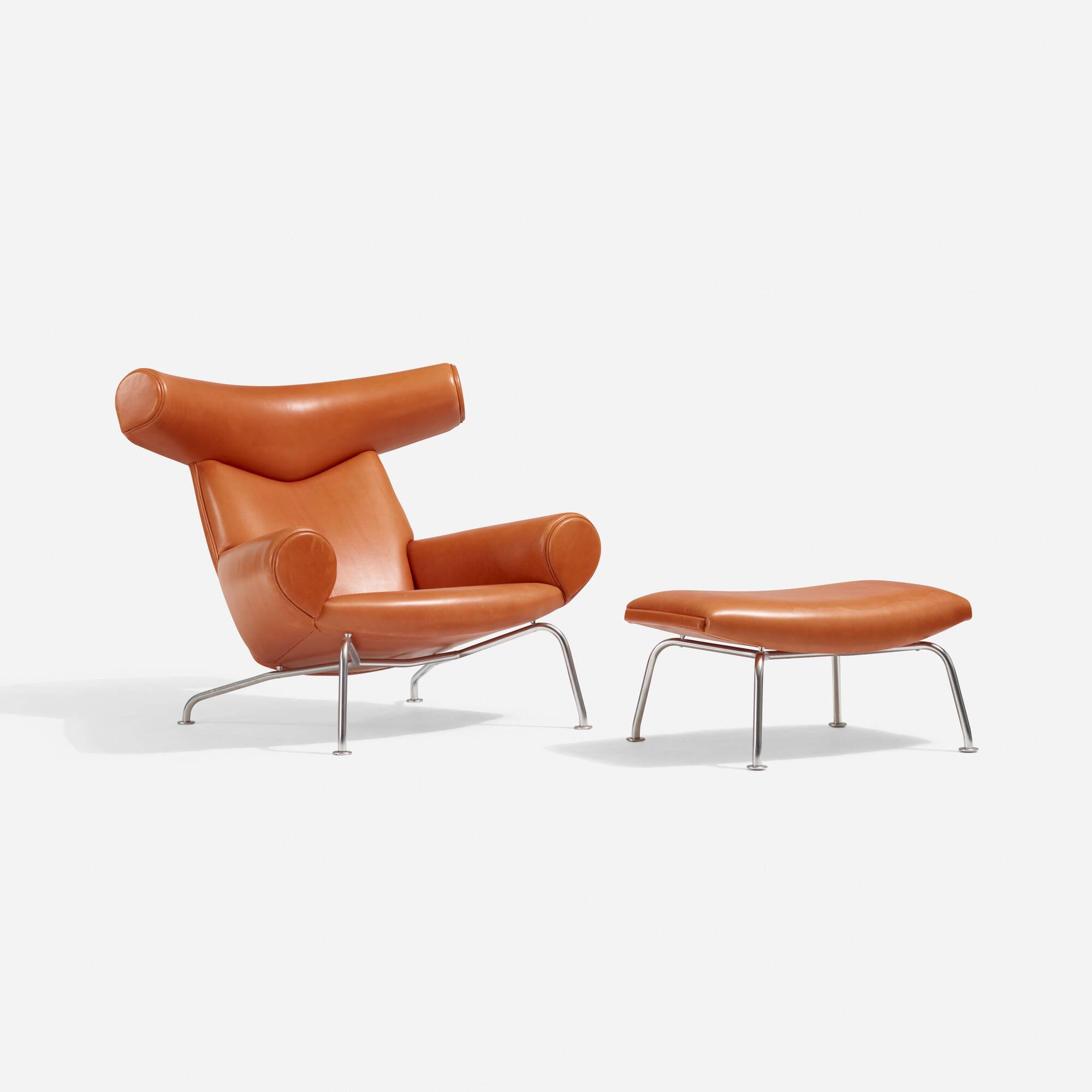 128: Hans J. Wegner / Ox Chair And Ottoman (1 Of 4)