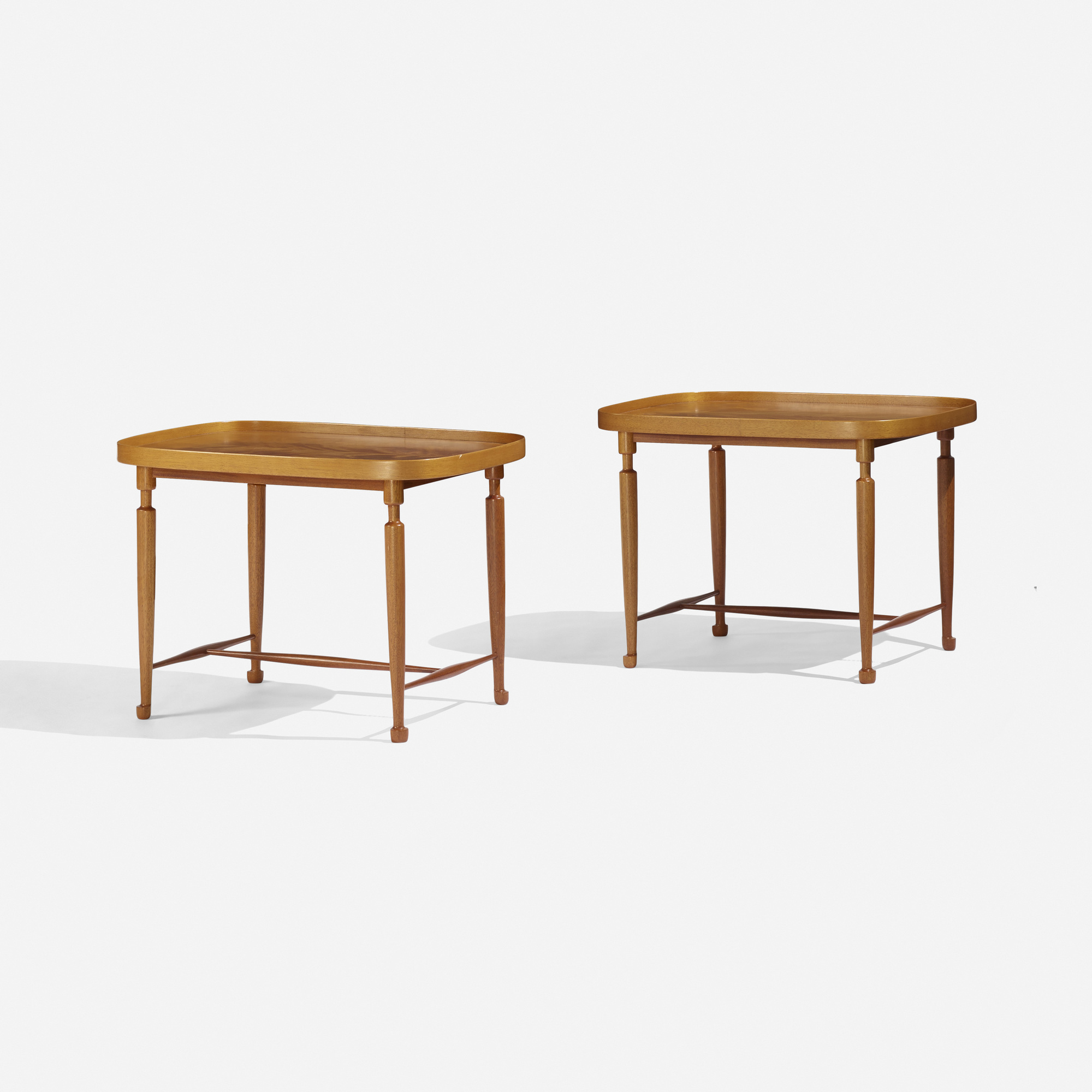 128: Josef Frank / occasional tables model 974, pair (1 of 3)