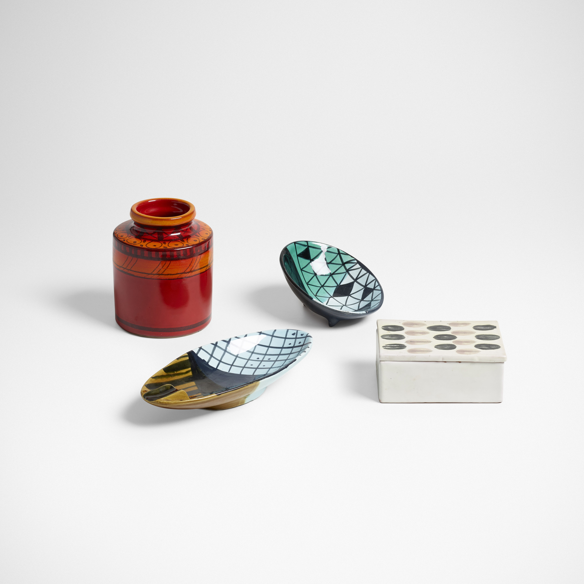 129: Bitossi / Tabletop Accessories, Set Of Four (1 Of 3) ...