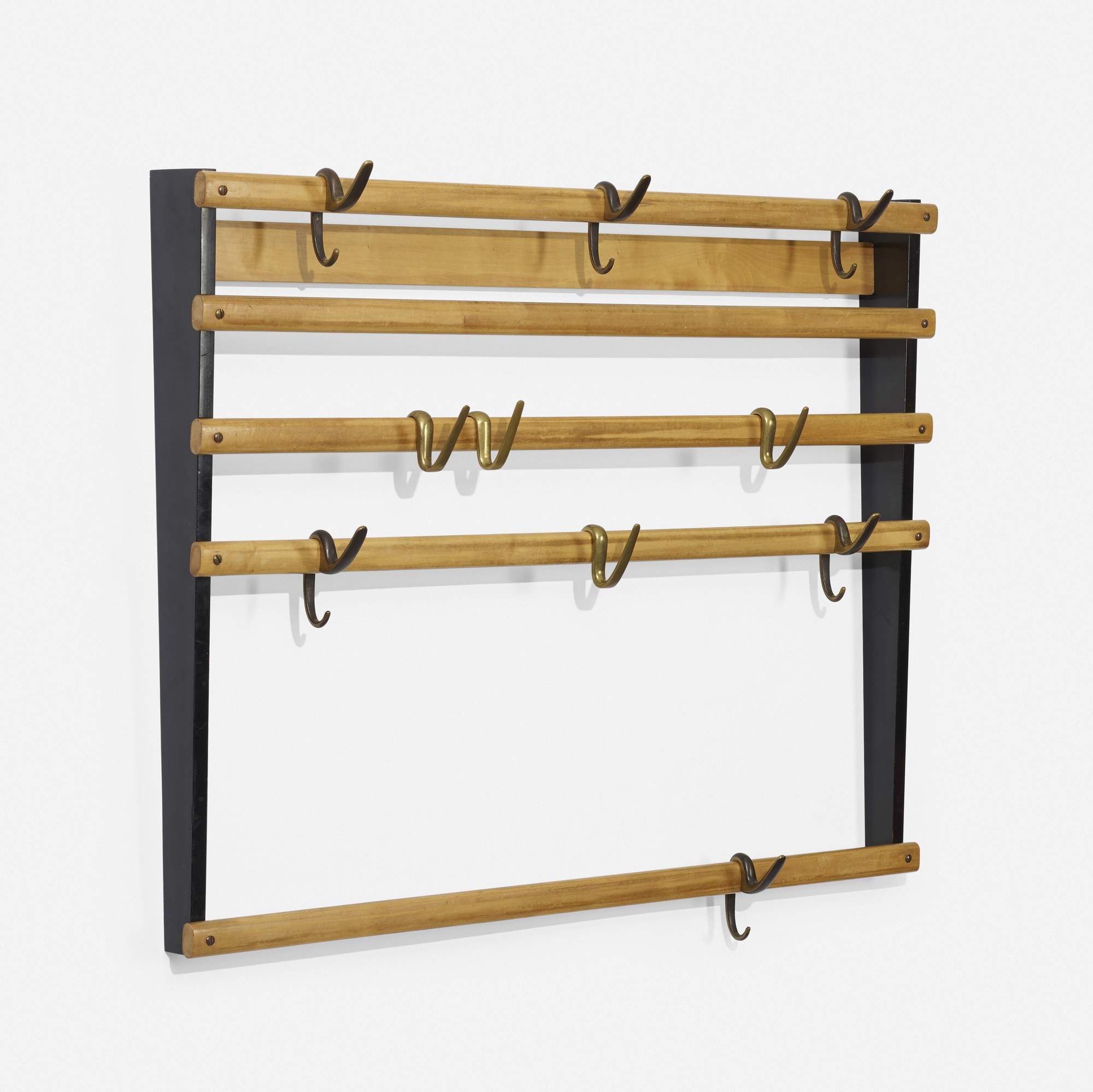 129: Carl Auböck II / wall-mounted coatrack, model 4547 (1 of 2)