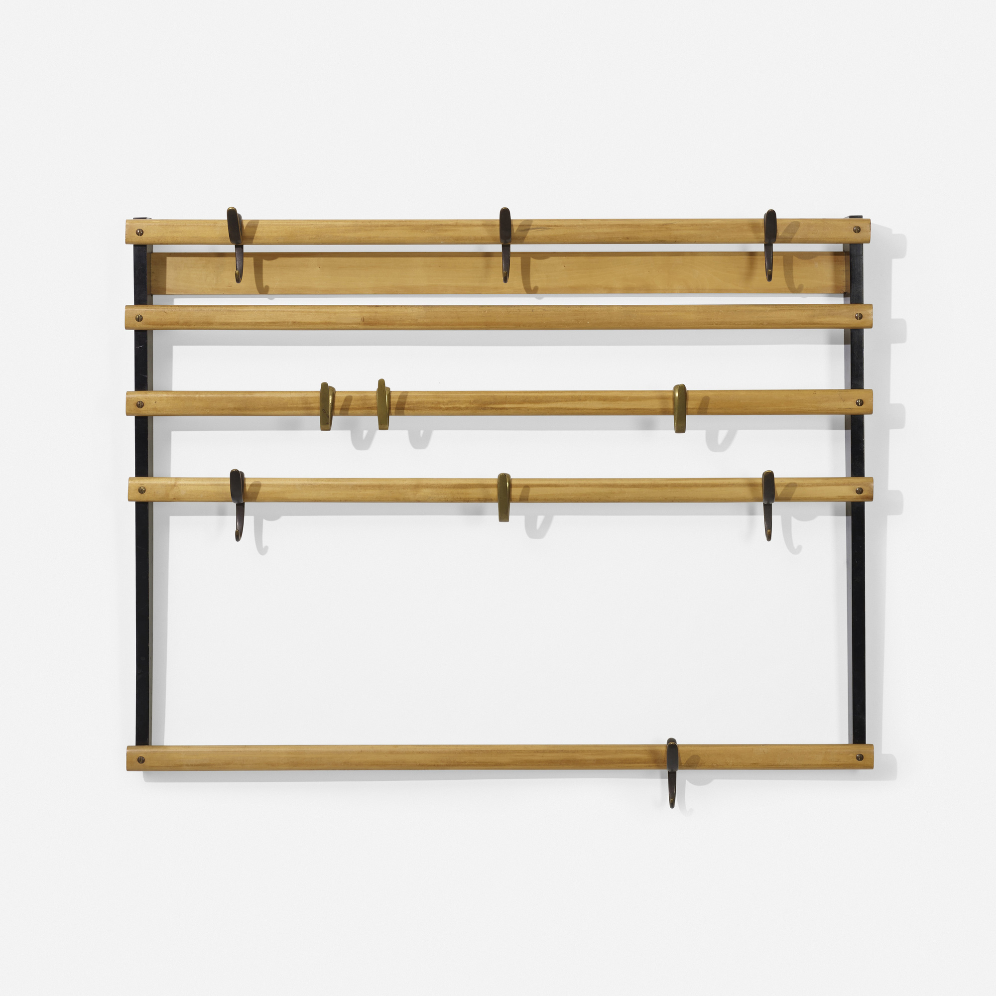 129: Carl Auböck II / wall-mounted coatrack, model 4547 (2 of 2)
