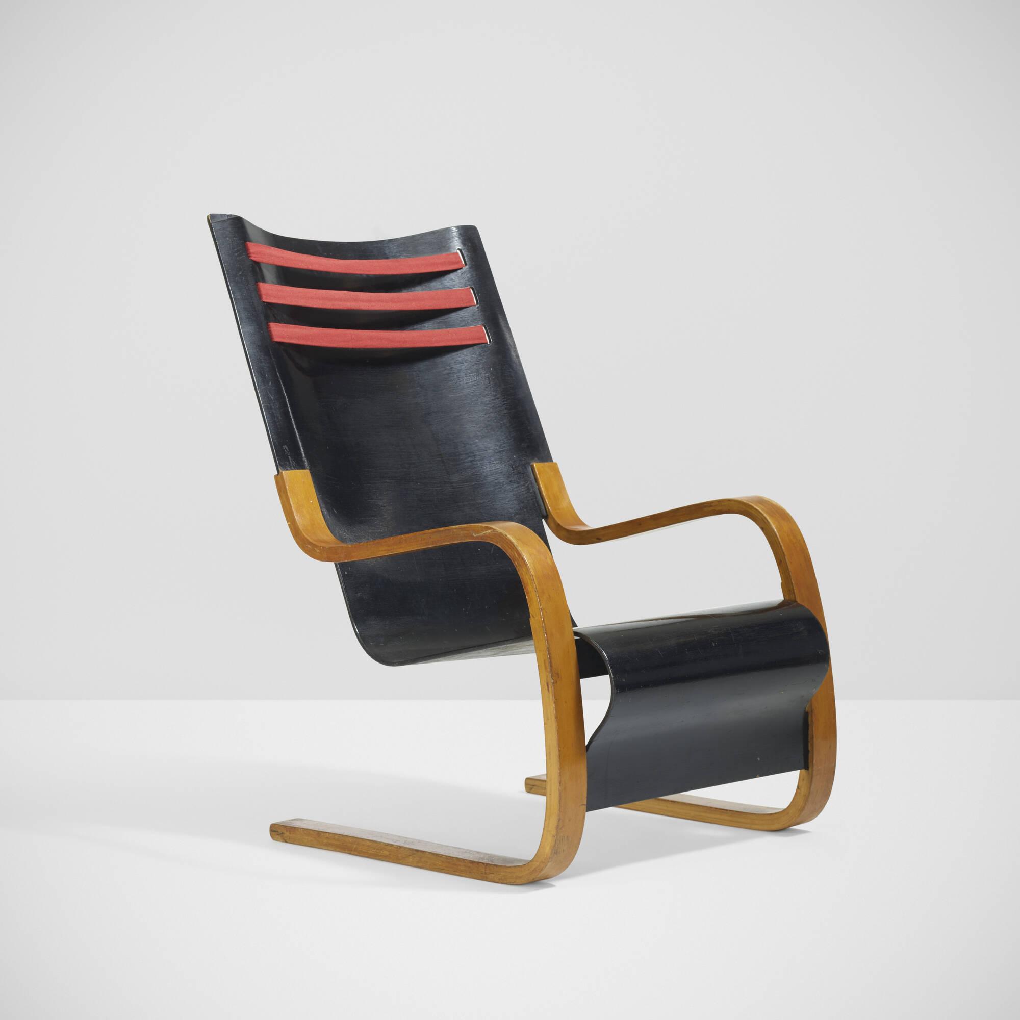 12: Alvar Aalto / Rare High Back Chair, Model 402 (1 Of 3