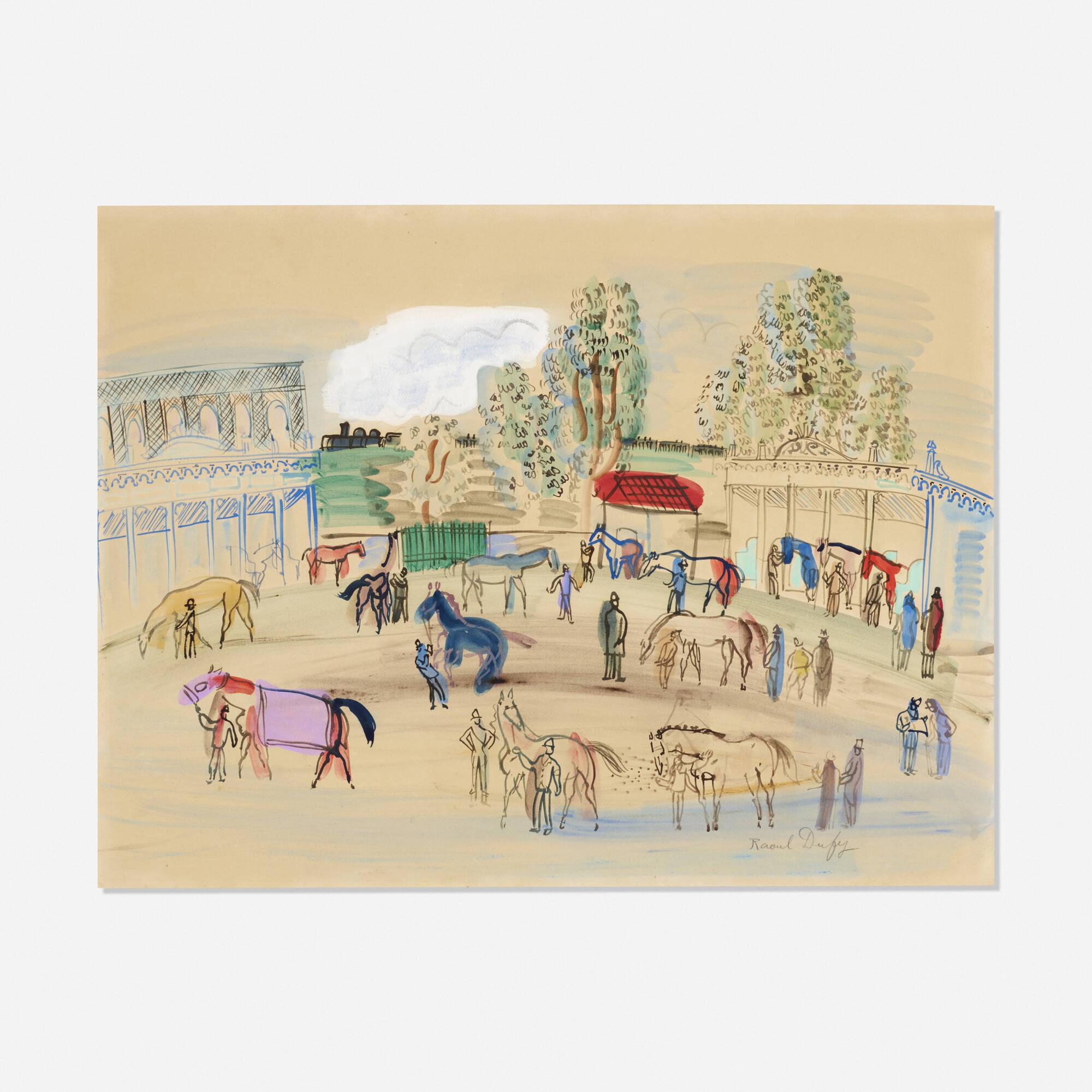 130: Raoul Dufy / Paddock Scene (1 of 1)