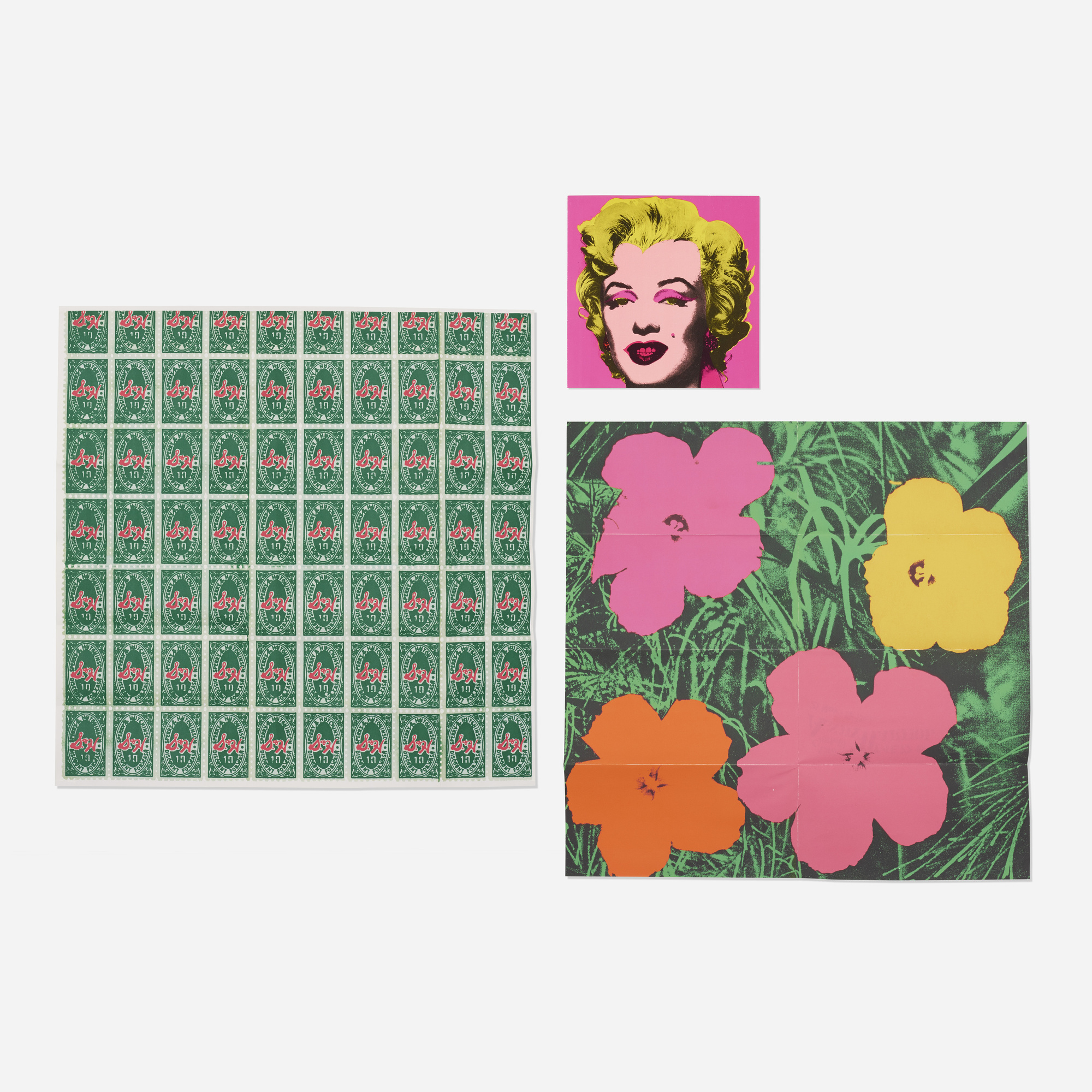 130: Andy Warhol / Marilyn, Flowers and S&H Green Stamps (three mailers) (1 of 3)