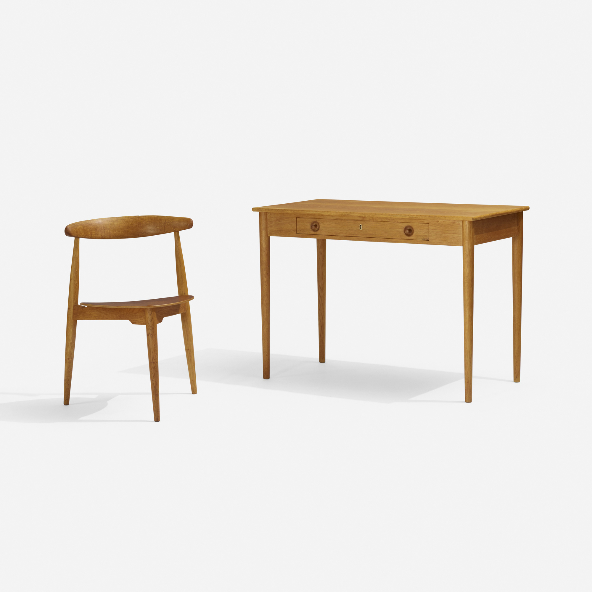130: Hans J. Wegner / desk and Heart chair (2 of 3)