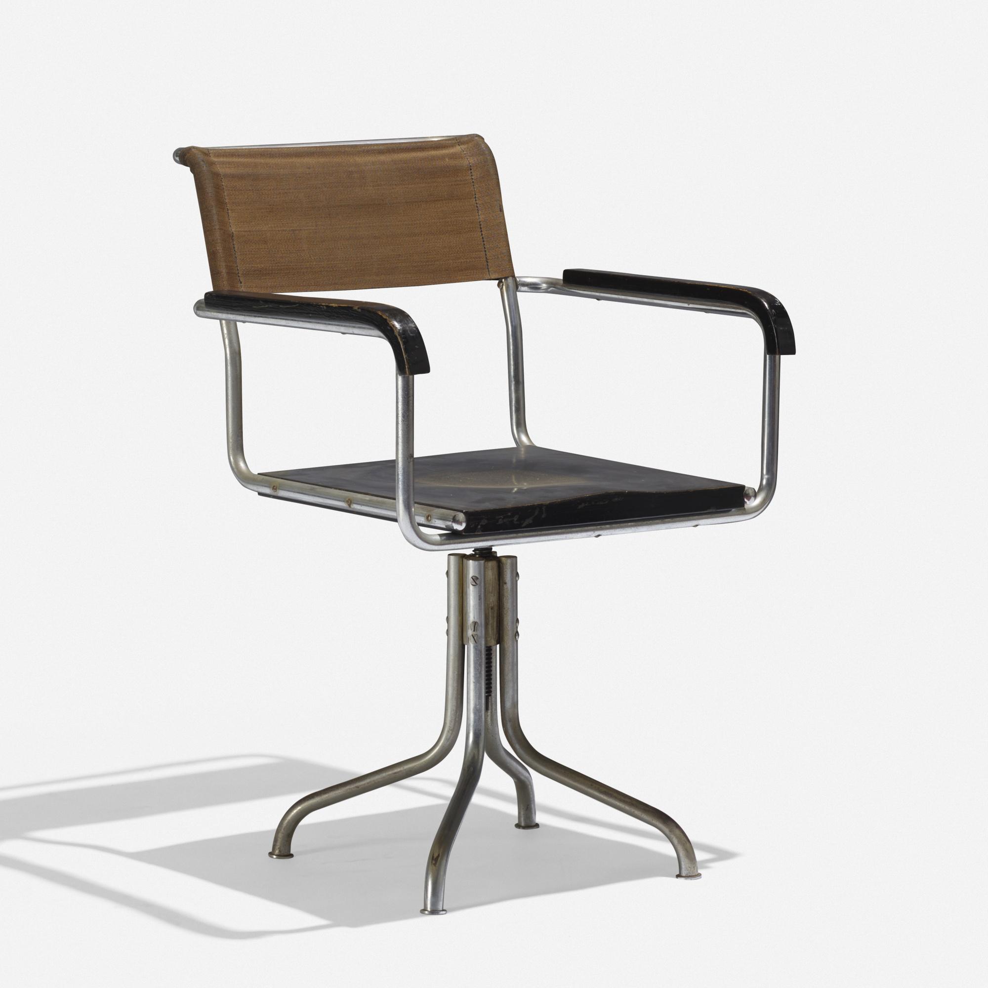 131: MARCEL BREUER, adjustable armchair, model B7A