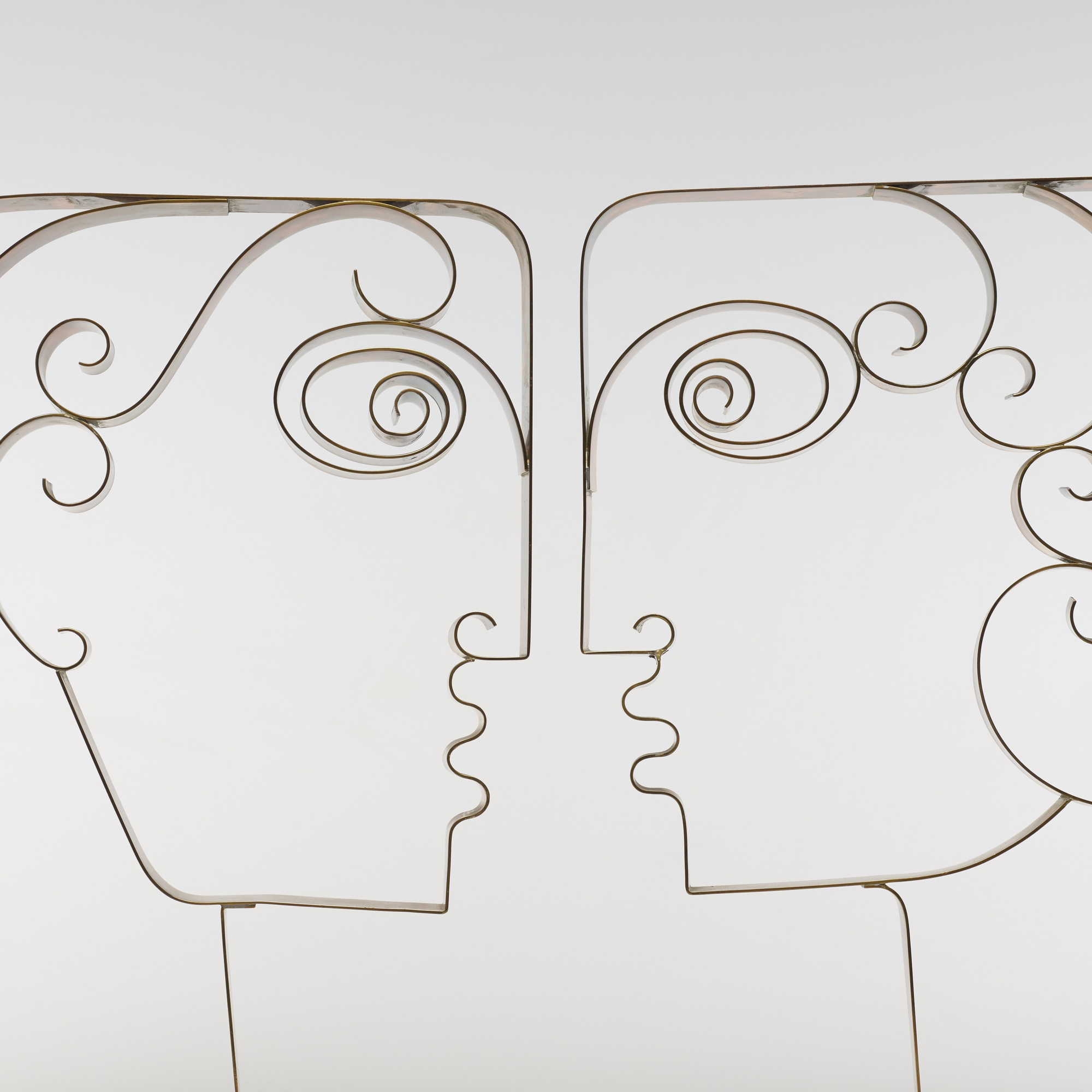 131: Franz Hagenauer / heads in profile, pair (2 of 2)