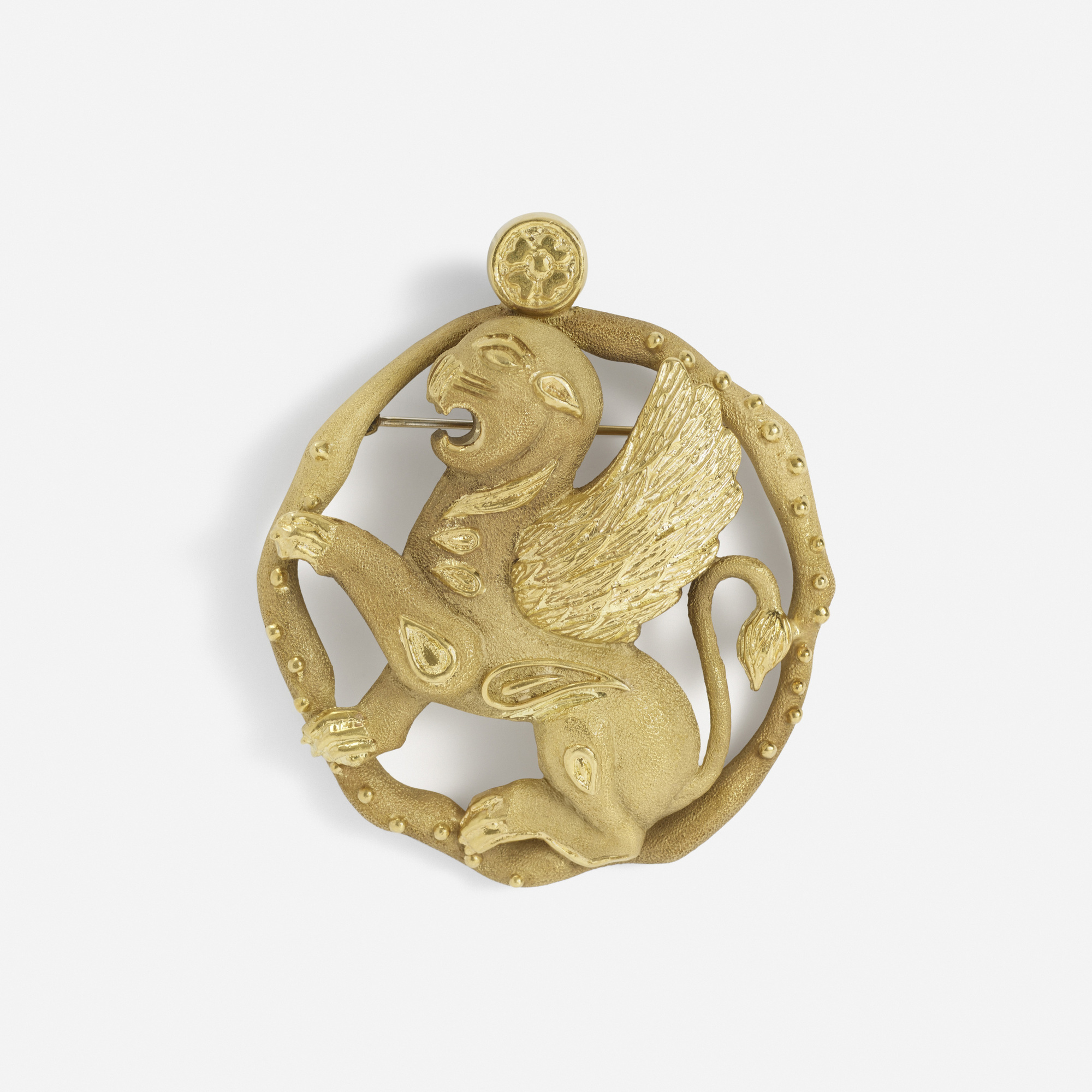 132:  / A gold Lion of Venice pendant (1 of 1)
