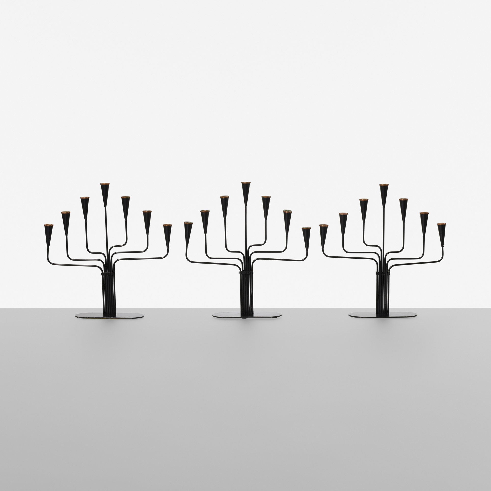 132: Gunnar Ander / candelabra, set of three (1 of 2)