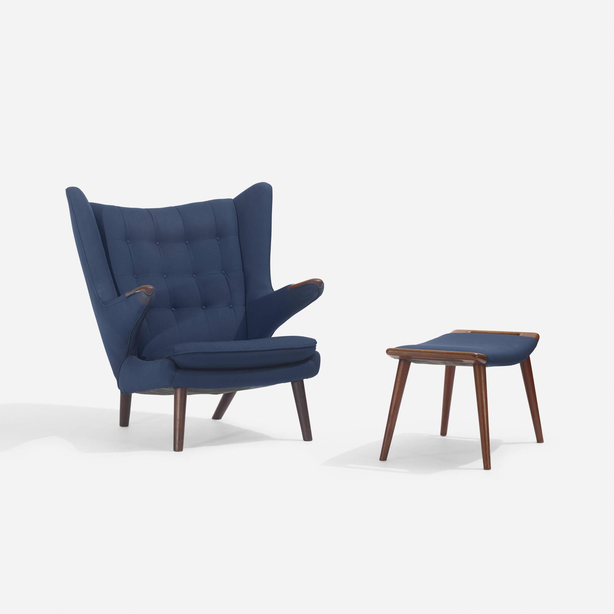 132: Hans J. Wegner / Papa Bear Chair And Ottoman (1 Of 3