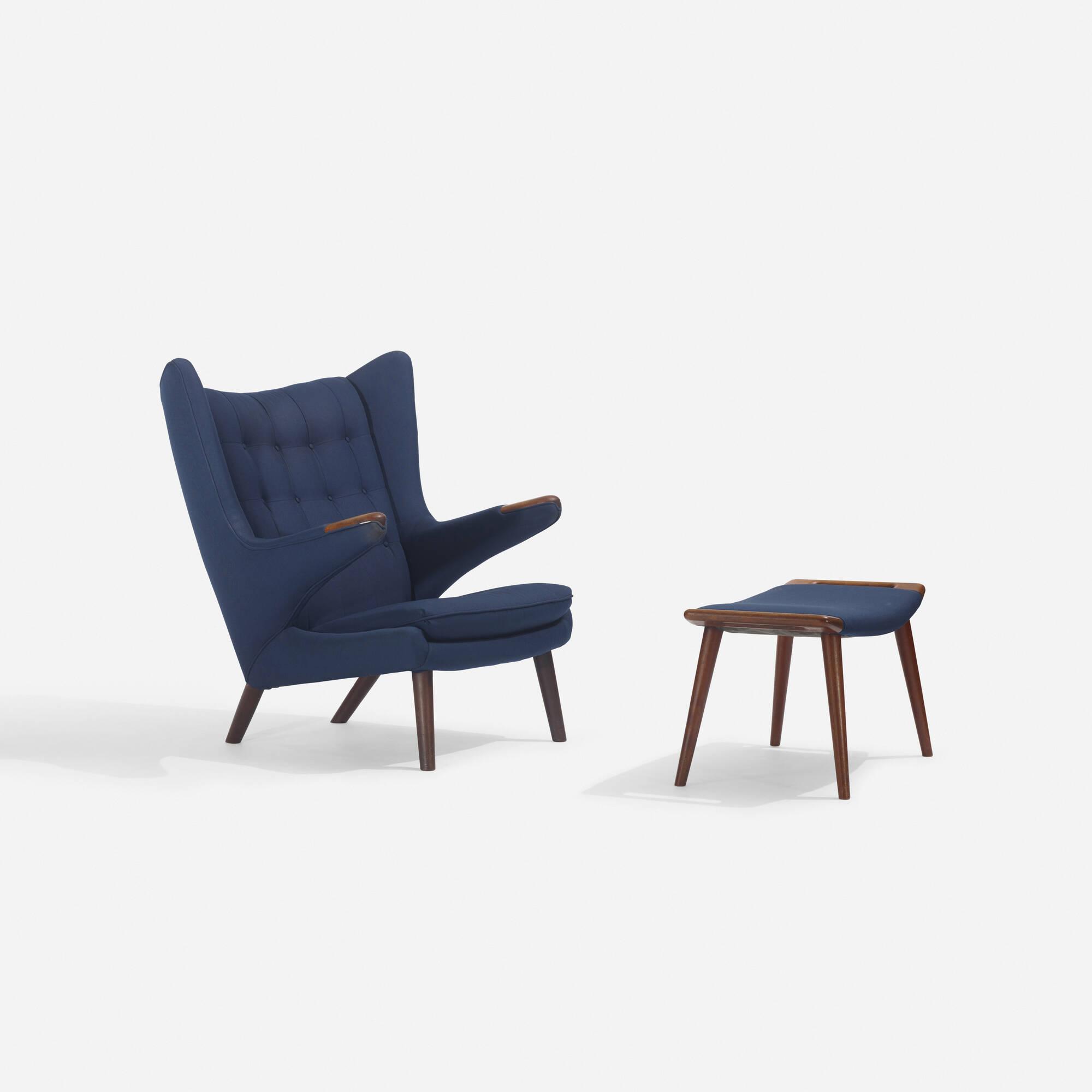 132: Hans J. Wegner / Papa Bear chair and ottoman (2 of 3)