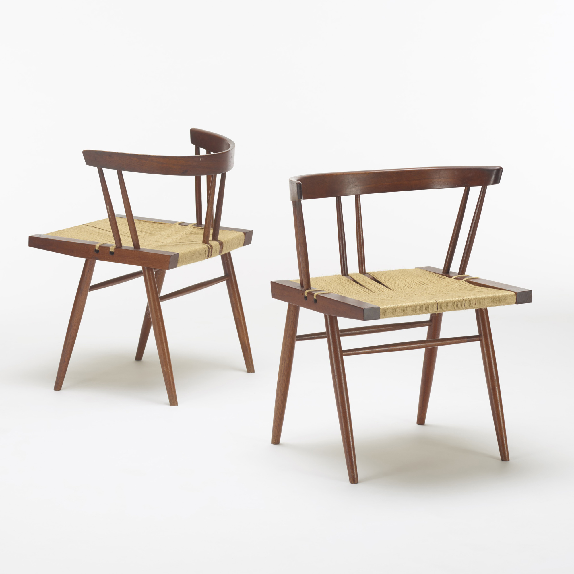 132: George Nakashima / Grass-Seated chairs, set of six (3 of 3)