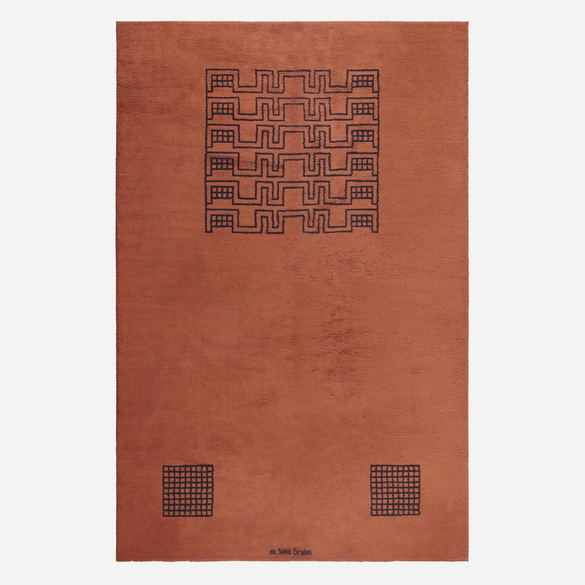 133: Ivan da Silva Bruhns / rare pile carpet (1 of 1)