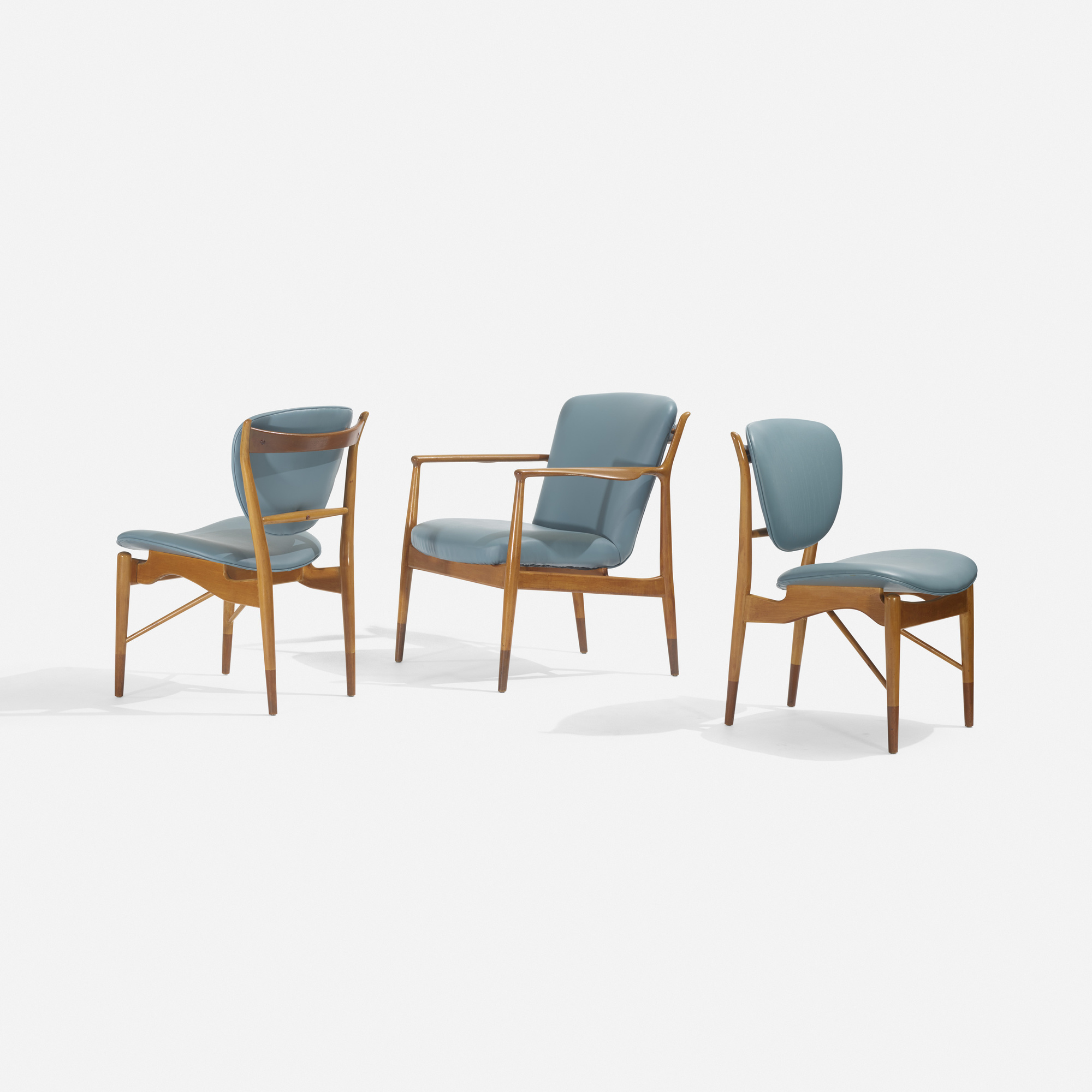 133: Finn Juhl / set of three chairs (1 of 3)