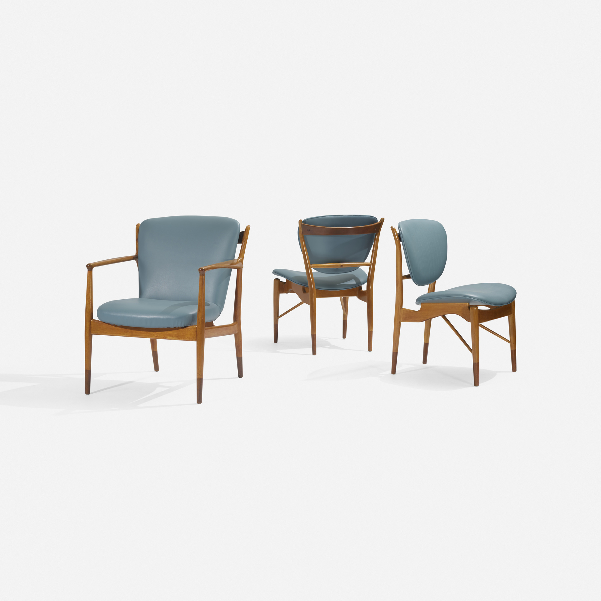133: Finn Juhl / set of three chairs (2 of 3)