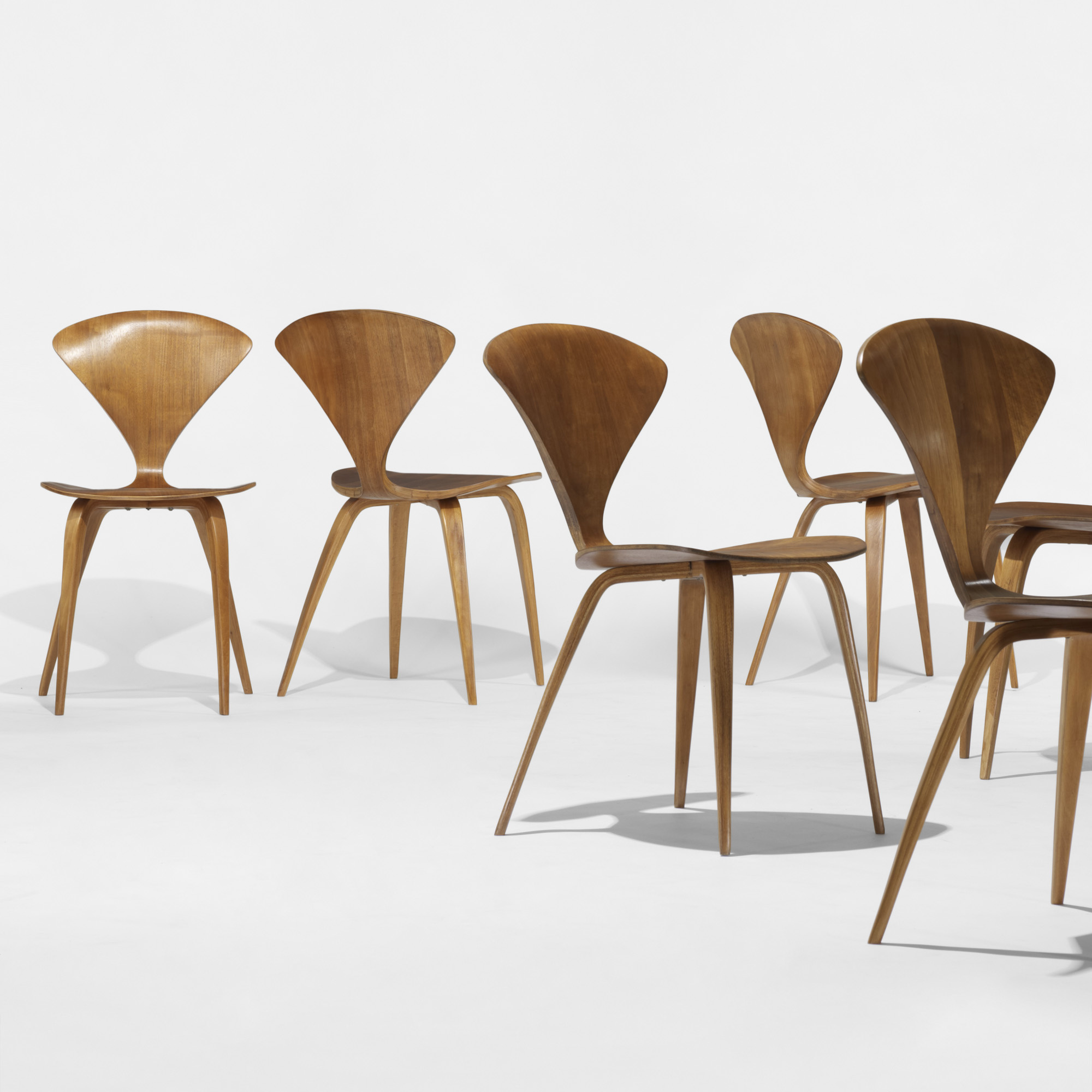 ... 133: Norman Cherner / Dining Chairs, Set Of Eight (2 Of 4)