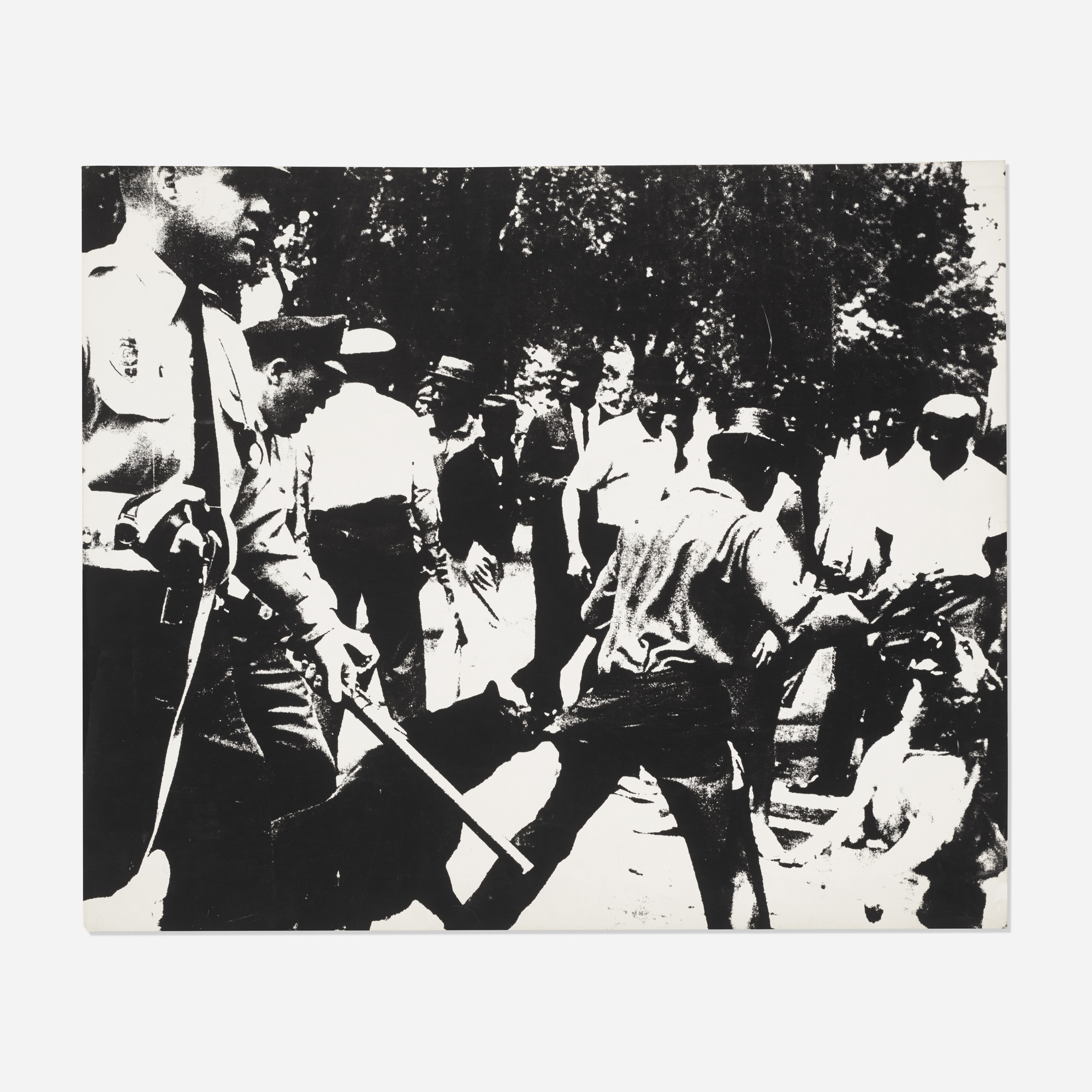 134: Andy Warhol / Birmingham Race Riot (from the Ten Works X Ten Painters portfolio) (1 of 2)
