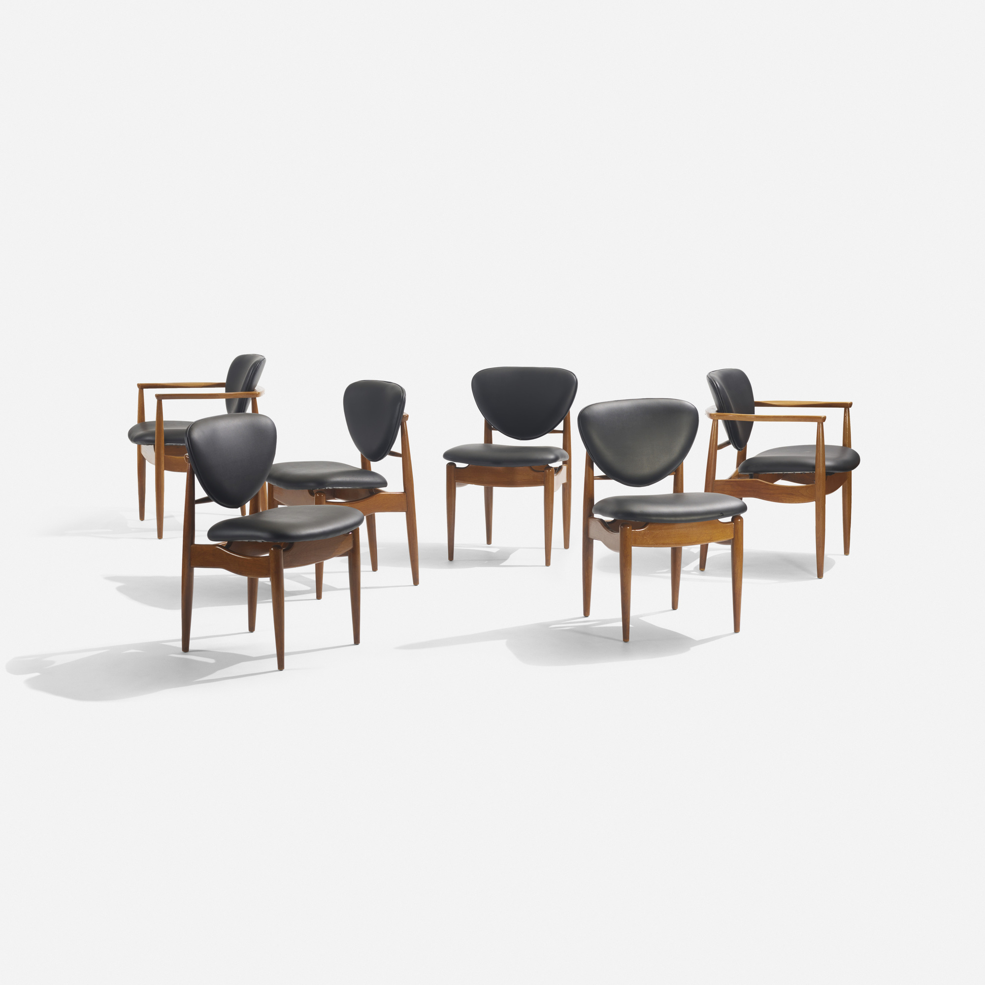 135: In the manner of Finn Juhl / dining chairs, set of six (1 of 2)