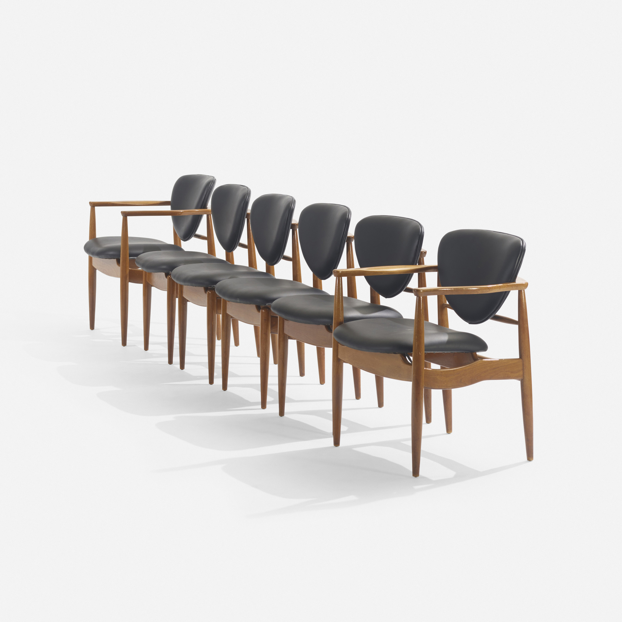 135: In the manner of Finn Juhl / dining chairs, set of six (2 of 2)