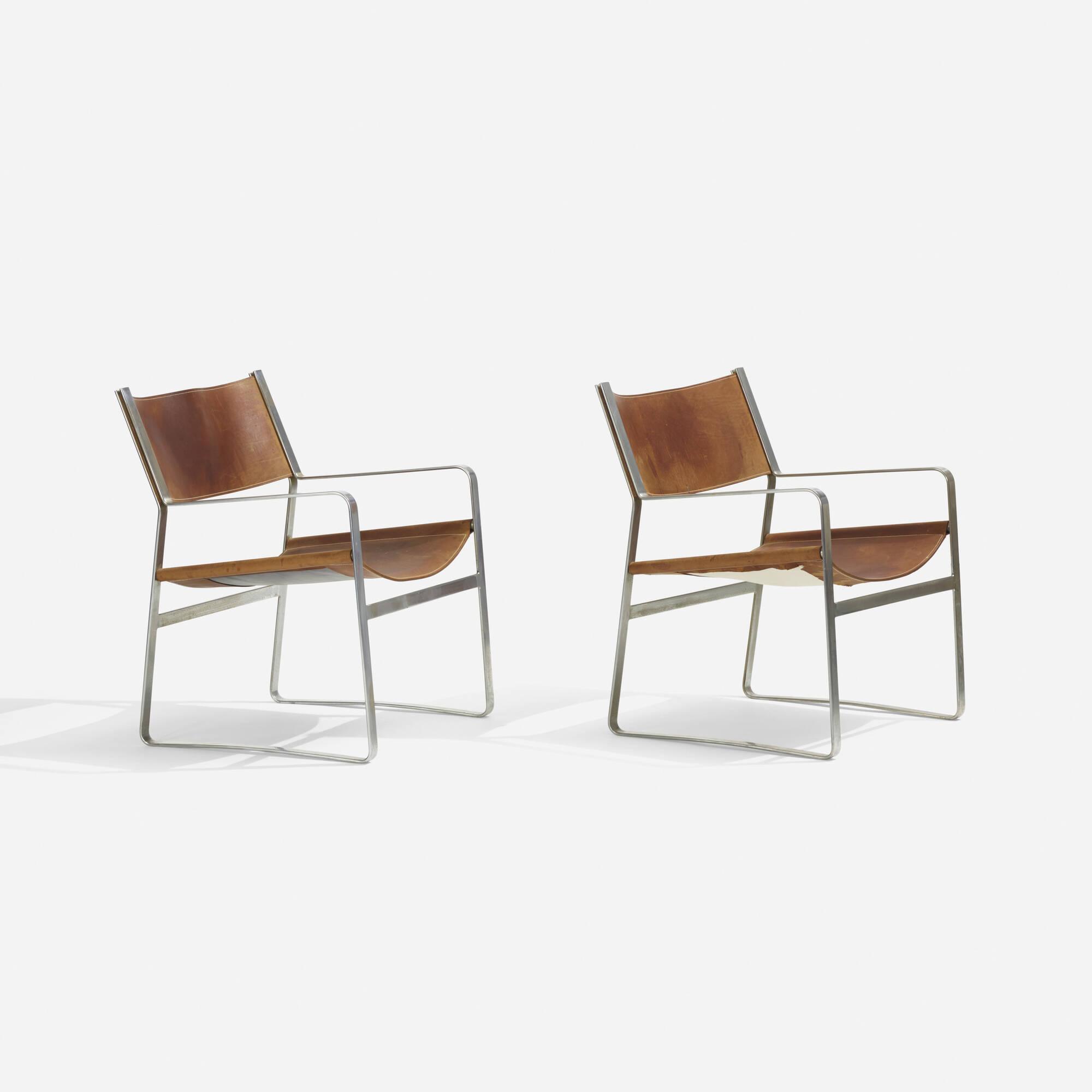 136: Hans J. Wegner / armchairs model JH 812, pair (1 of 2)