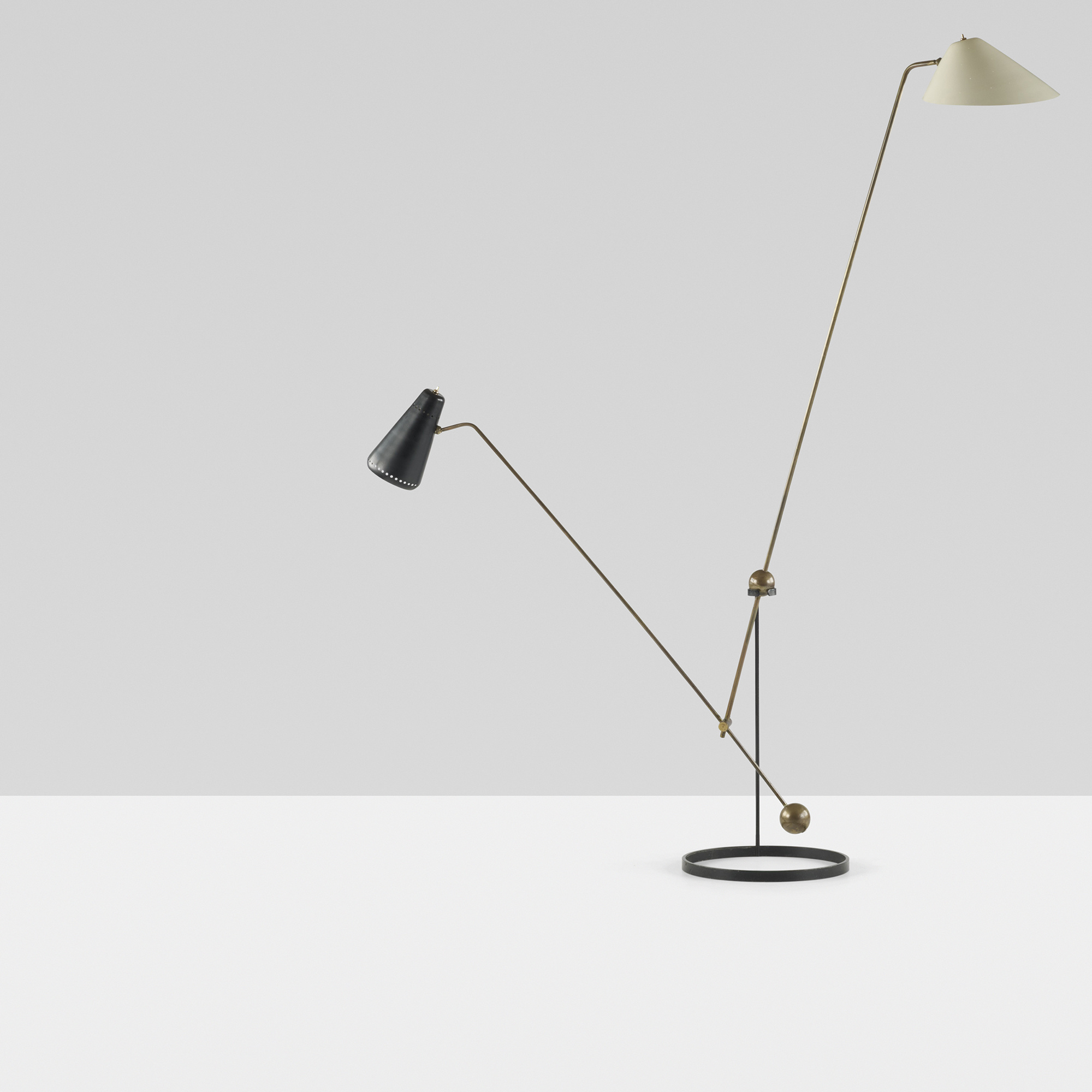 ... 136: Pierre Guariche / Equilibrium Double Branch Floor Lamp (3 Of 4)