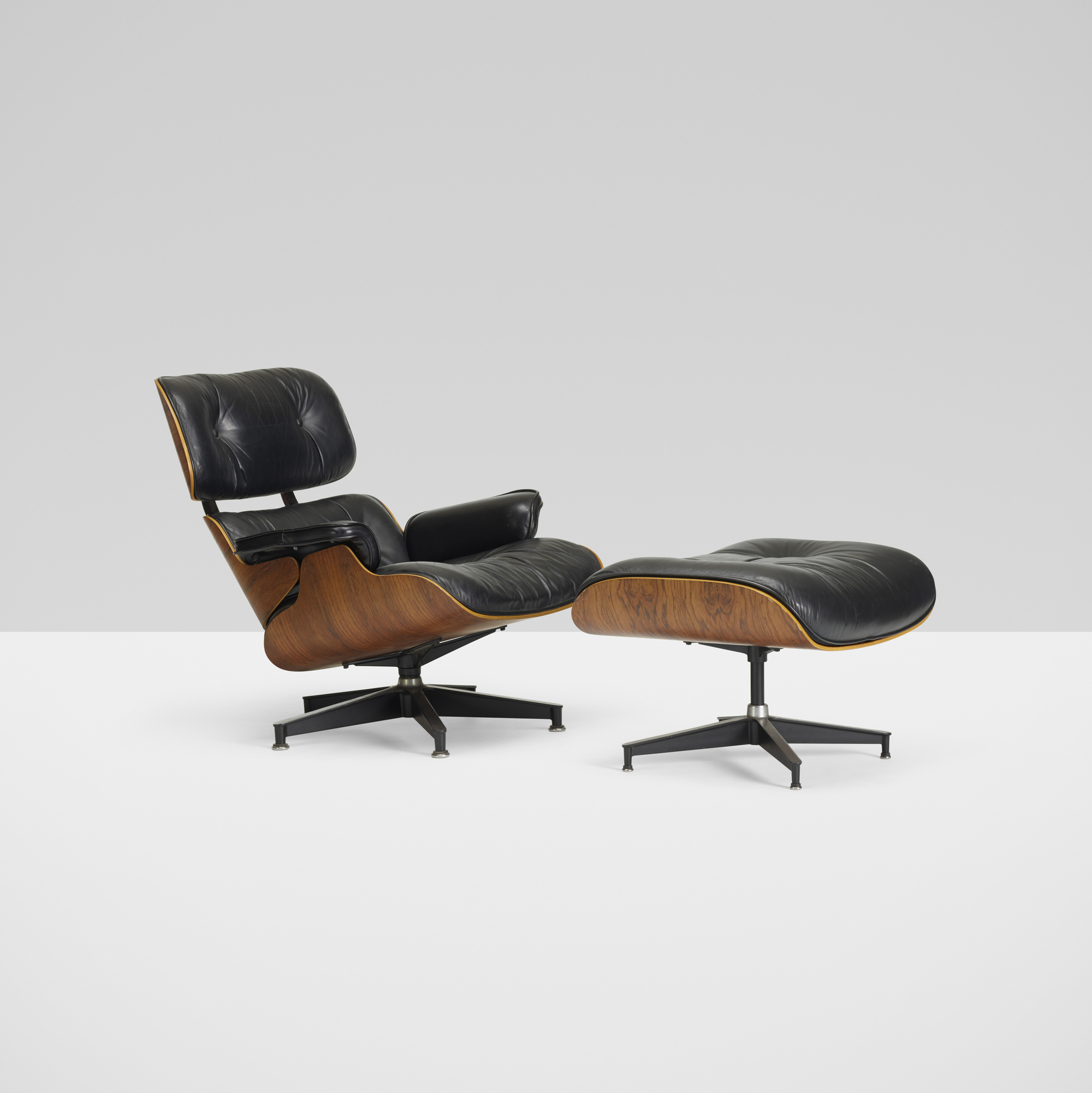 137 Charles and Ray Eames lounge chair model 670 and ottoman