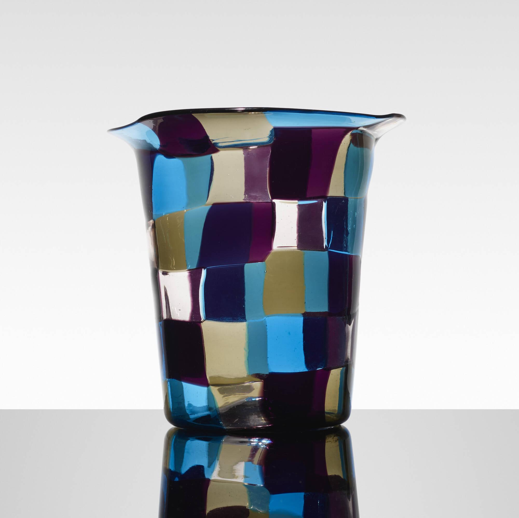 137: Fulvio Bianconi / rare Cappello del Mago vase (1 of 3)