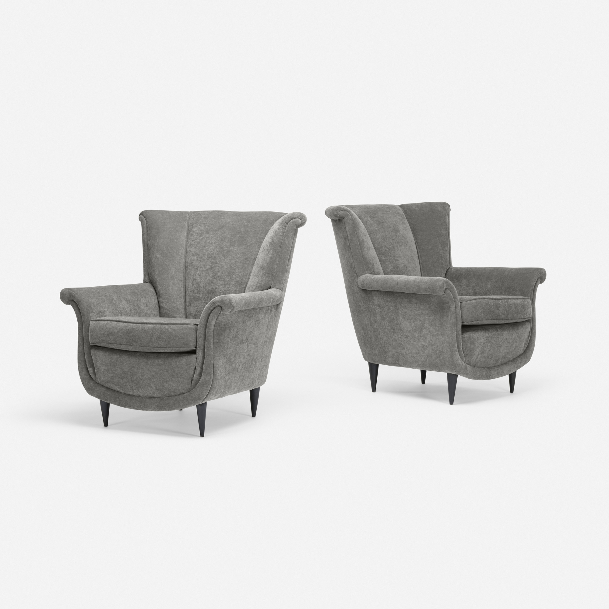 137: Italian / lounge chairs, pair (1 of 2)