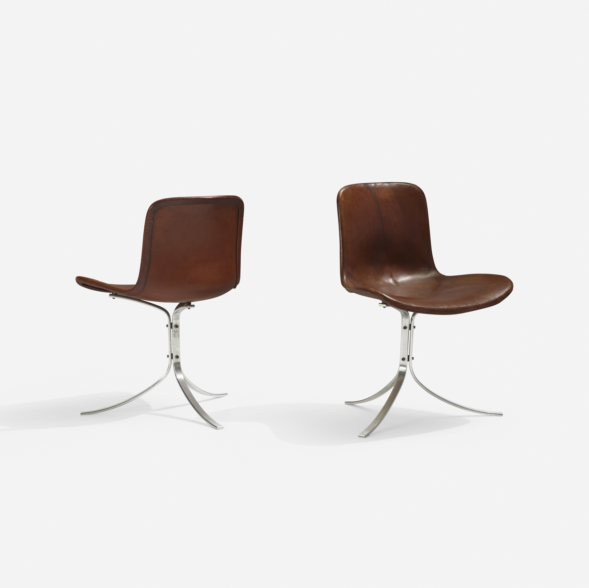 137: Poul Kjaerholm / PK 9 chairs, pair (2 of 3)